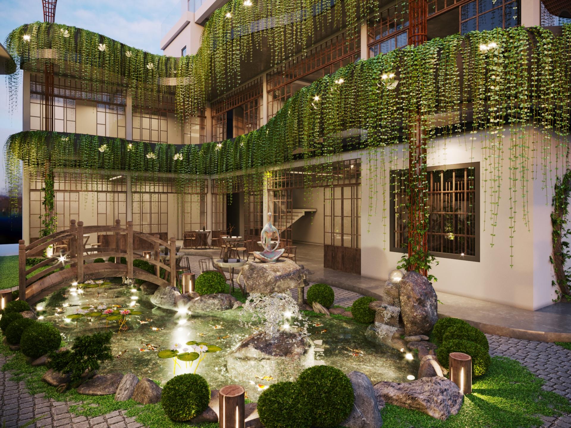 thiết kế nội thất Cafe tại Hà Nội caffee koi 17 1569649991