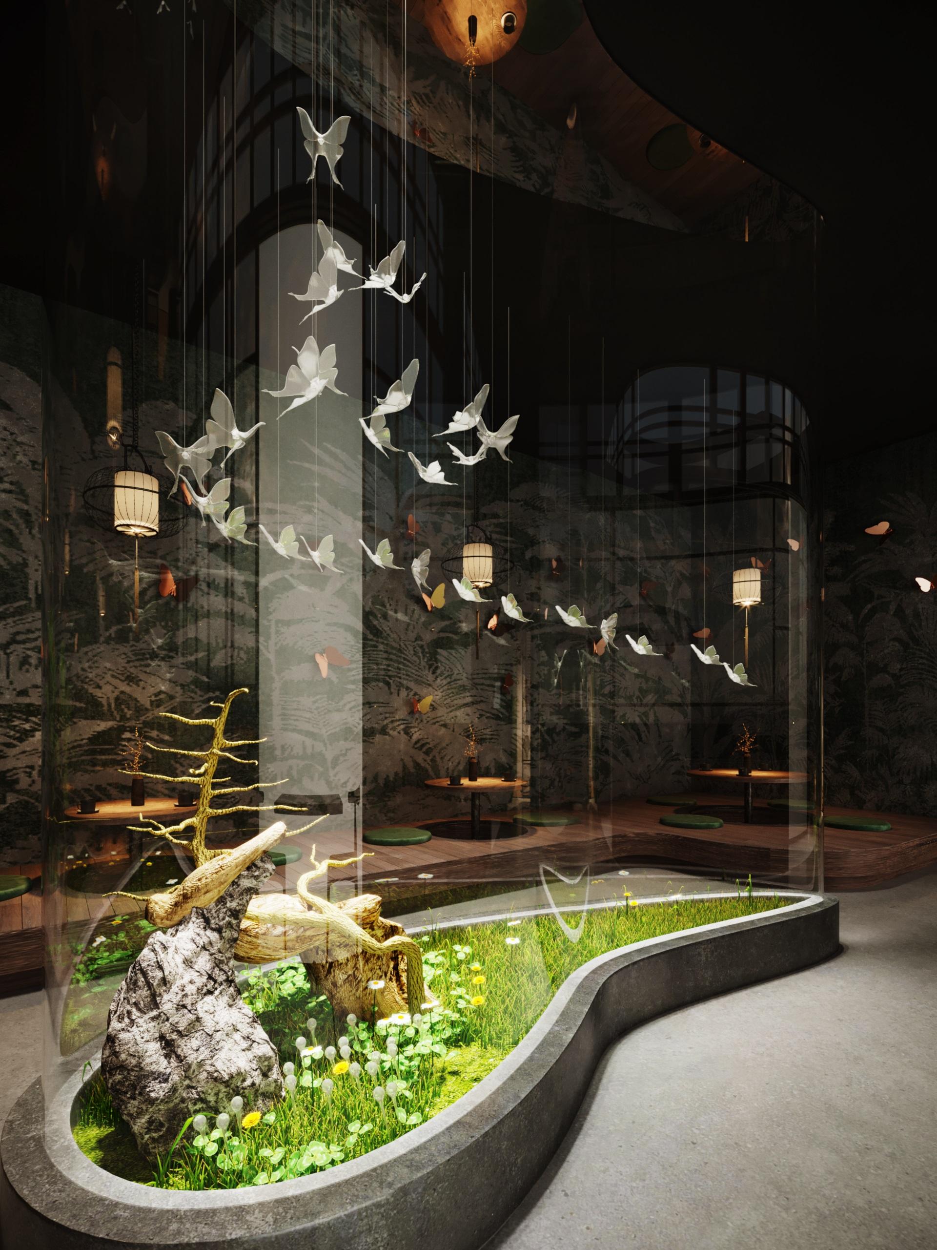 thiết kế nội thất Cafe tại Hà Nội caffee koi 21 1569649994