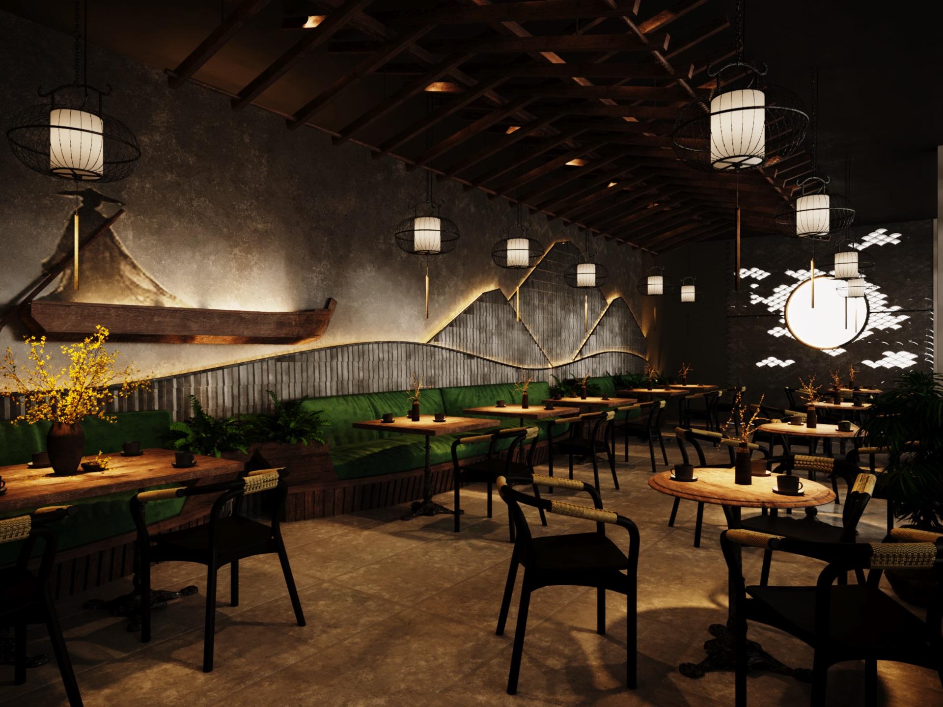 thiết kế nội thất Cafe tại Hà Nội caffee koi 22 1569649994