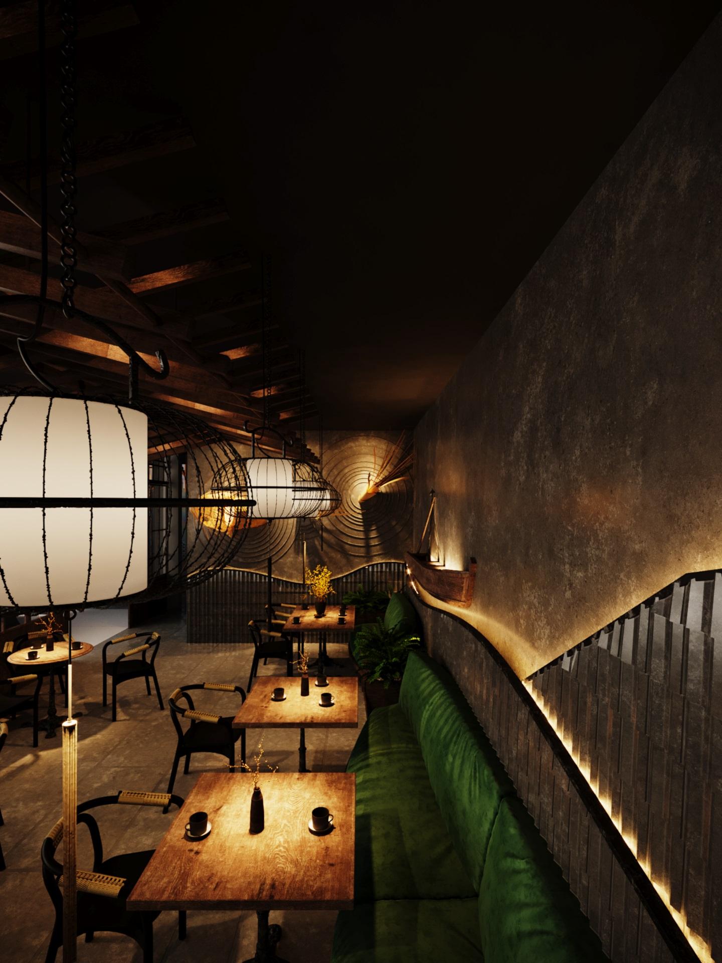 thiết kế nội thất Cafe tại Hà Nội caffee koi 23 1569649993
