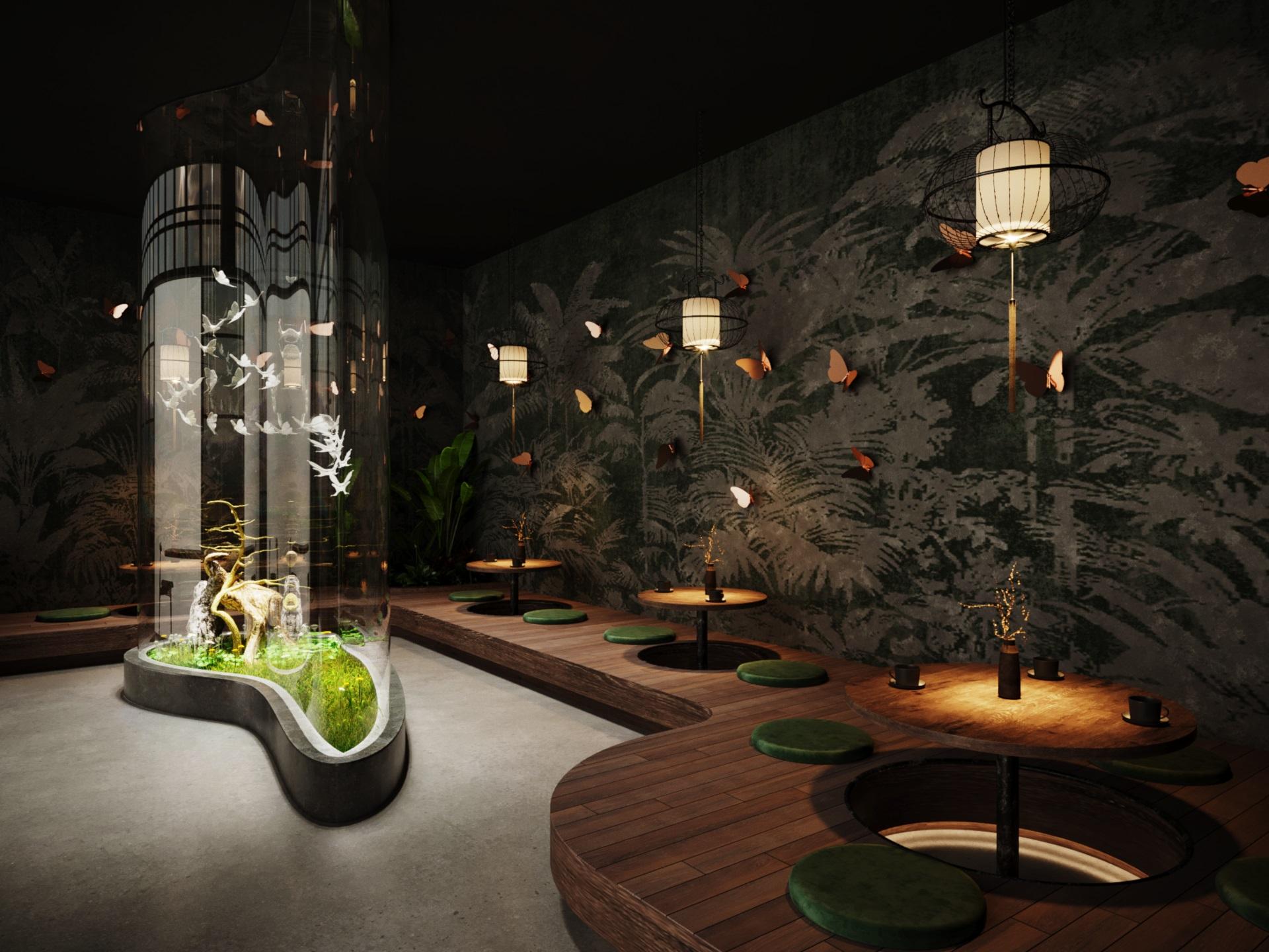 thiết kế nội thất Cafe tại Hà Nội caffee koi 24 1569649993