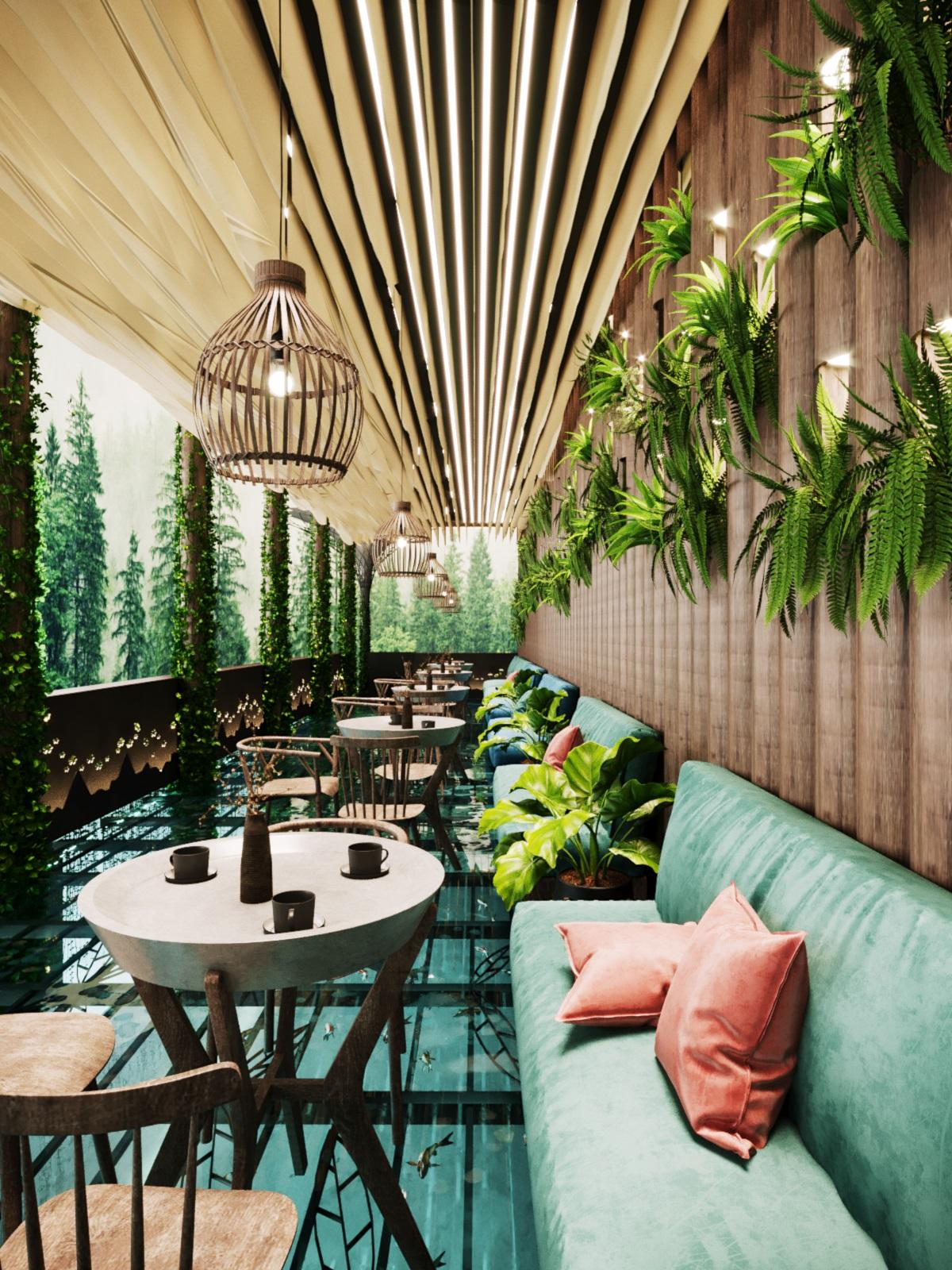 thiết kế nội thất Cafe tại Hà Nội caffee koi 7 1569649985