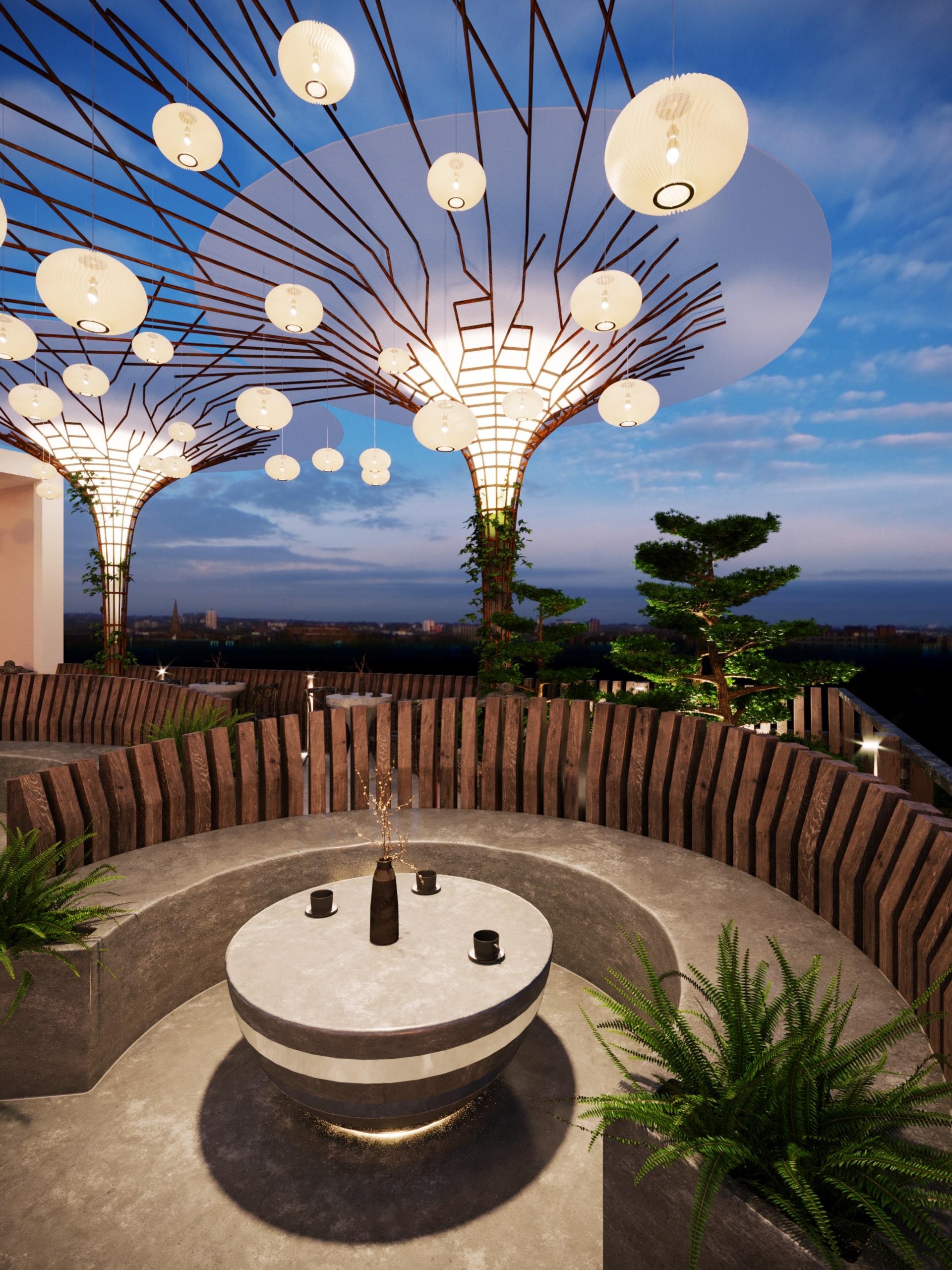 thiết kế nội thất Cafe tại Hà Nội caffee koi 8 1569649988