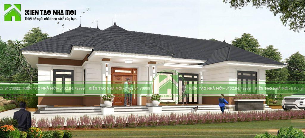 thiết kế Biệt Thự 1 tầng tại Thái Nguyên THIẾT KẾ BIỆT THỰ VƯỜN 1 TẦNG HIỆN ĐẠI ĐẸP TẠI SÔNG CÔNG, THÁI NGUYÊN 1 1550474328