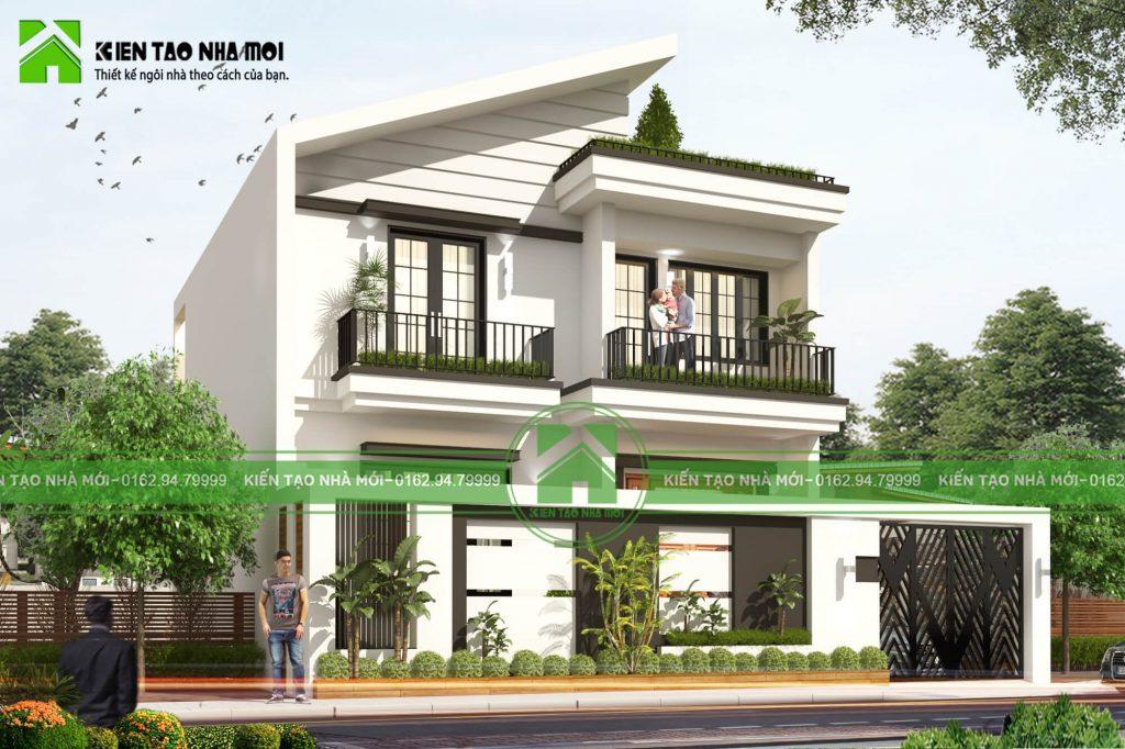 thiết kế nội thất Biệt Thự tại Vĩnh Phúc THIẾT KẾ BIỆT THỰ HIỆN ĐẠI, TRẺ TRUNG TẠI VĨNH PHÚC  1 1550472765