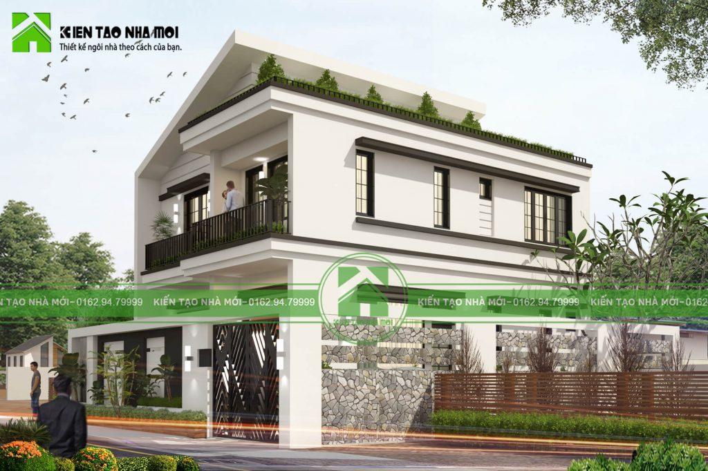 thiết kế nội thất Biệt Thự tại Vĩnh Phúc THIẾT KẾ BIỆT THỰ HIỆN ĐẠI, TRẺ TRUNG TẠI VĨNH PHÚC  4 1550472766