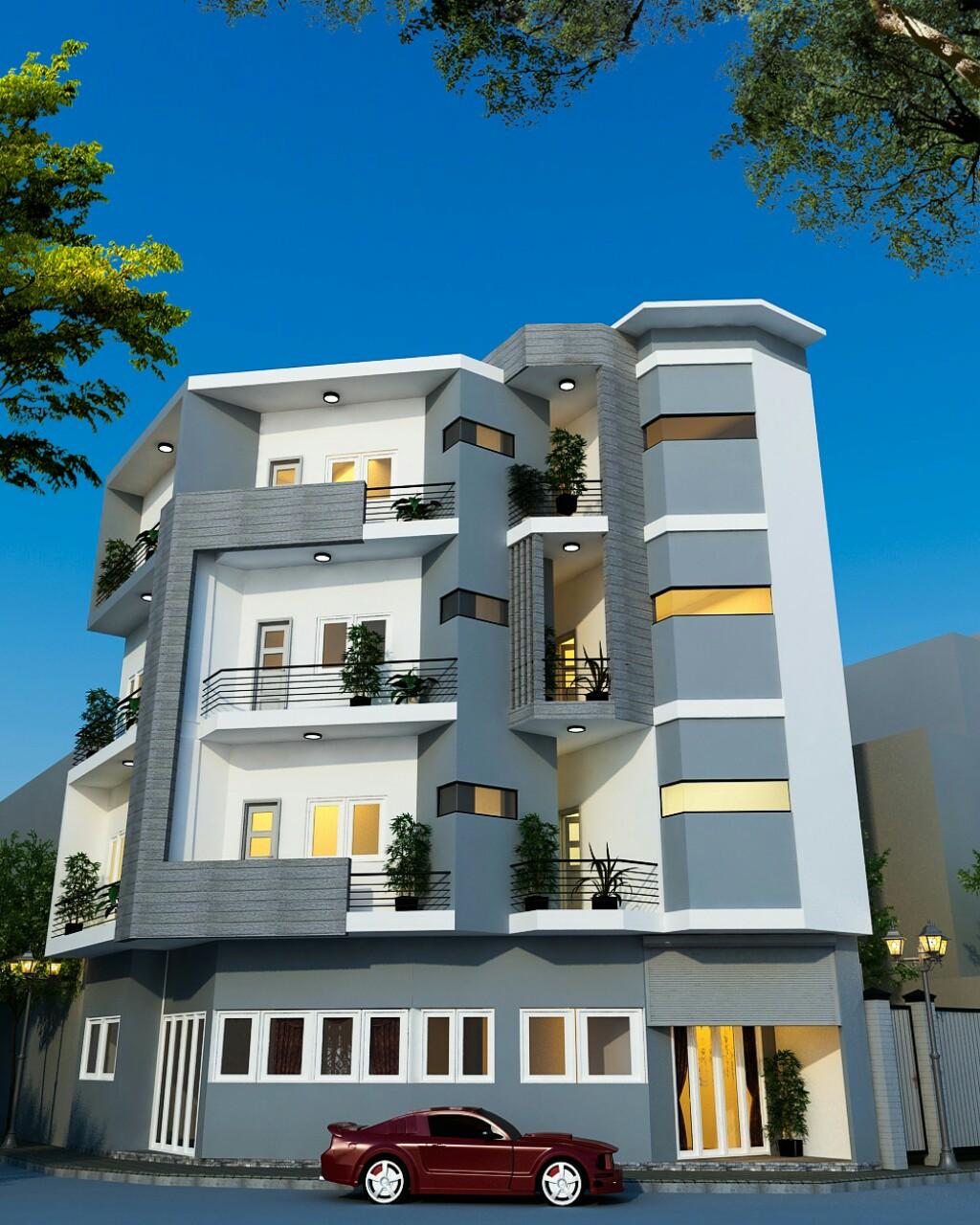 thiết kế Nhà 5 tầng tại Hà Nội Nhà trọ cho thuê 2 1551328089