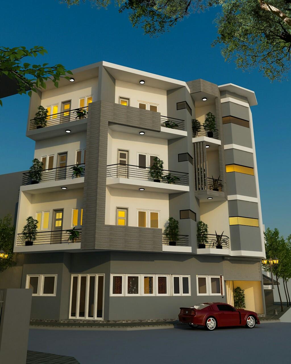 thiết kế Nhà 5 tầng tại Hà Nội Nhà trọ cho thuê 4 1551328089