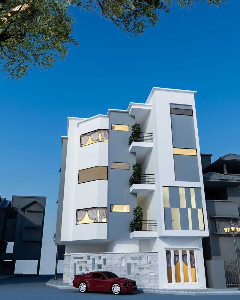 thiết kế Nhà 5 tầng tại Hà Nội Nhà trọ cho thuê 5 1551328089