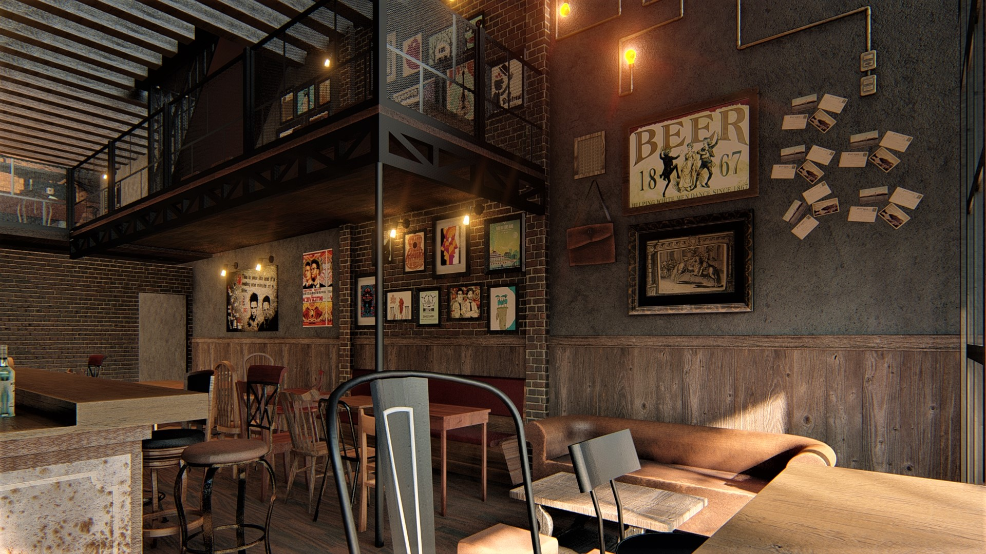 thiết kế Nội thất Cafe Craft beer & pub54