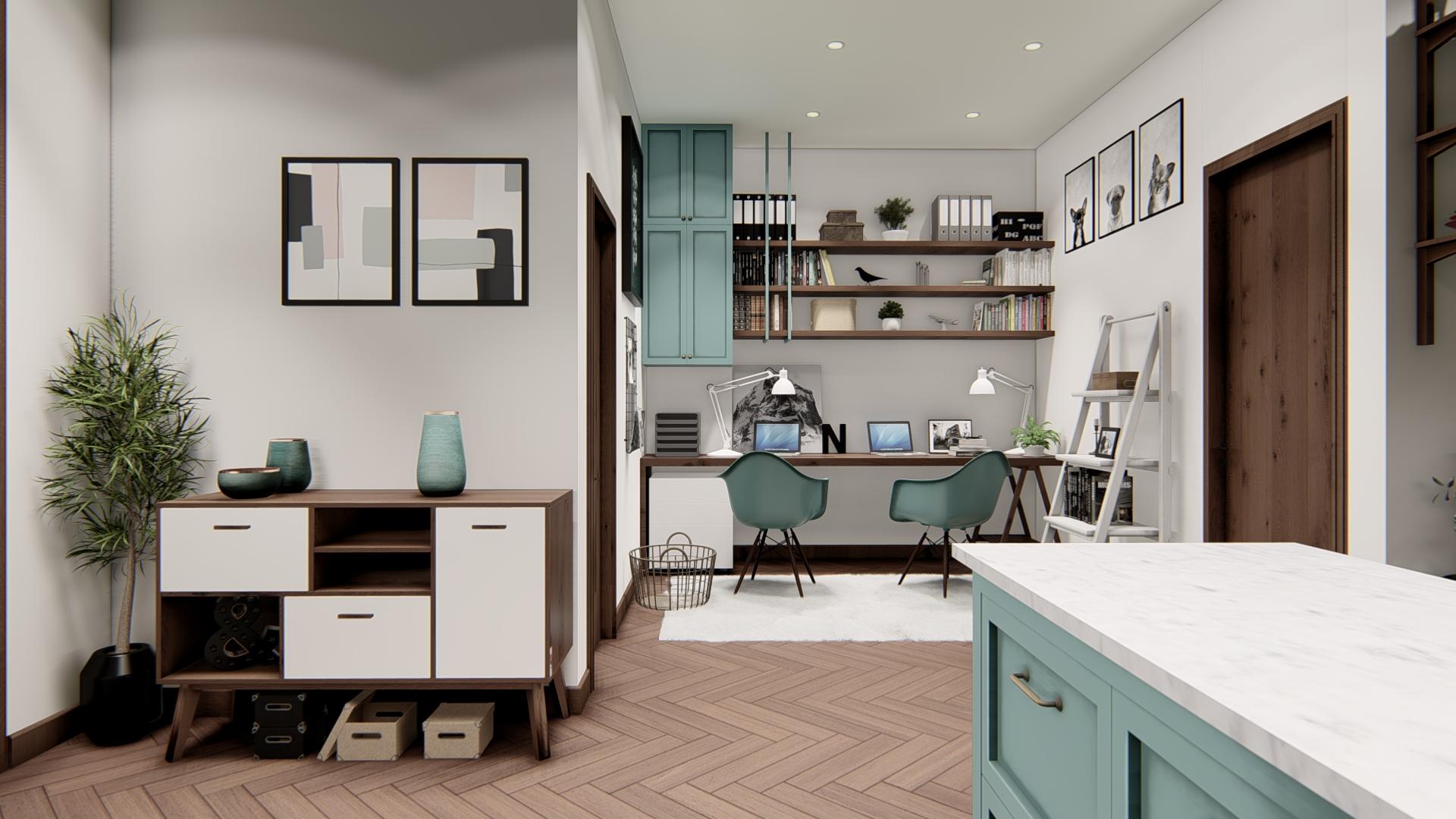 thiết kế nội thất chung cư tại Hồ Chí Minh Căn hộ Hà Đô Centrosa 1 1565695031