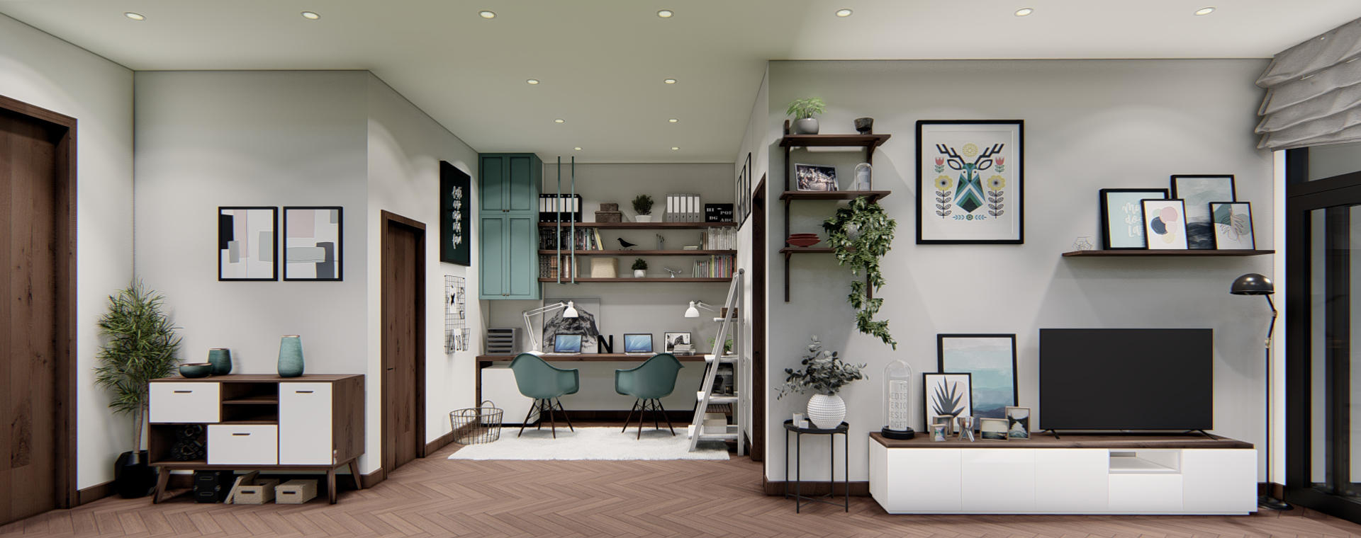 thiết kế nội thất chung cư tại Hồ Chí Minh Căn hộ Hà Đô Centrosa 4 1565695033