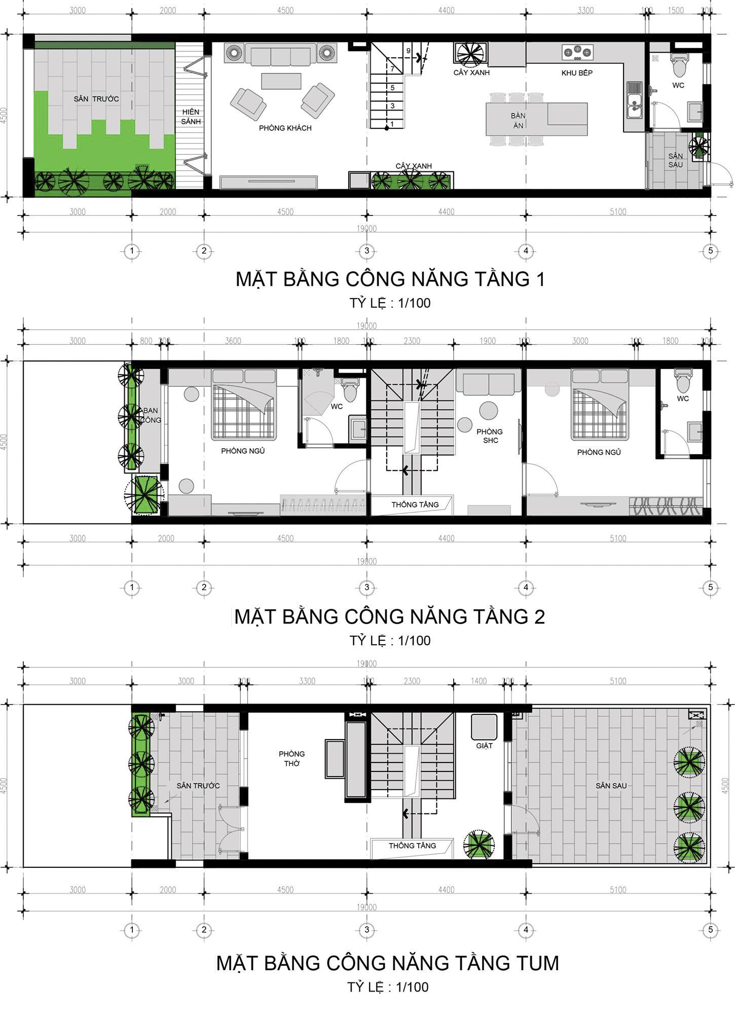 Thiết kế Nhà Mặt Phố tại Hồ Chí Minh Nhà Phố Hòa Minh 1621003652 25