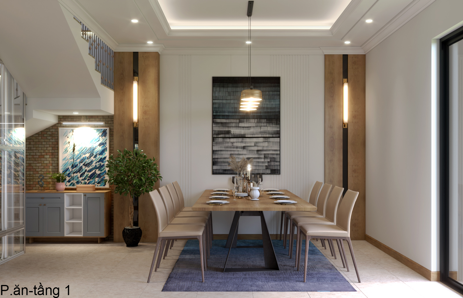 Thiết kế nội thất Nhà Mặt Phố tại Hà Nội Nhà phố Kim Giang 1630573752 8