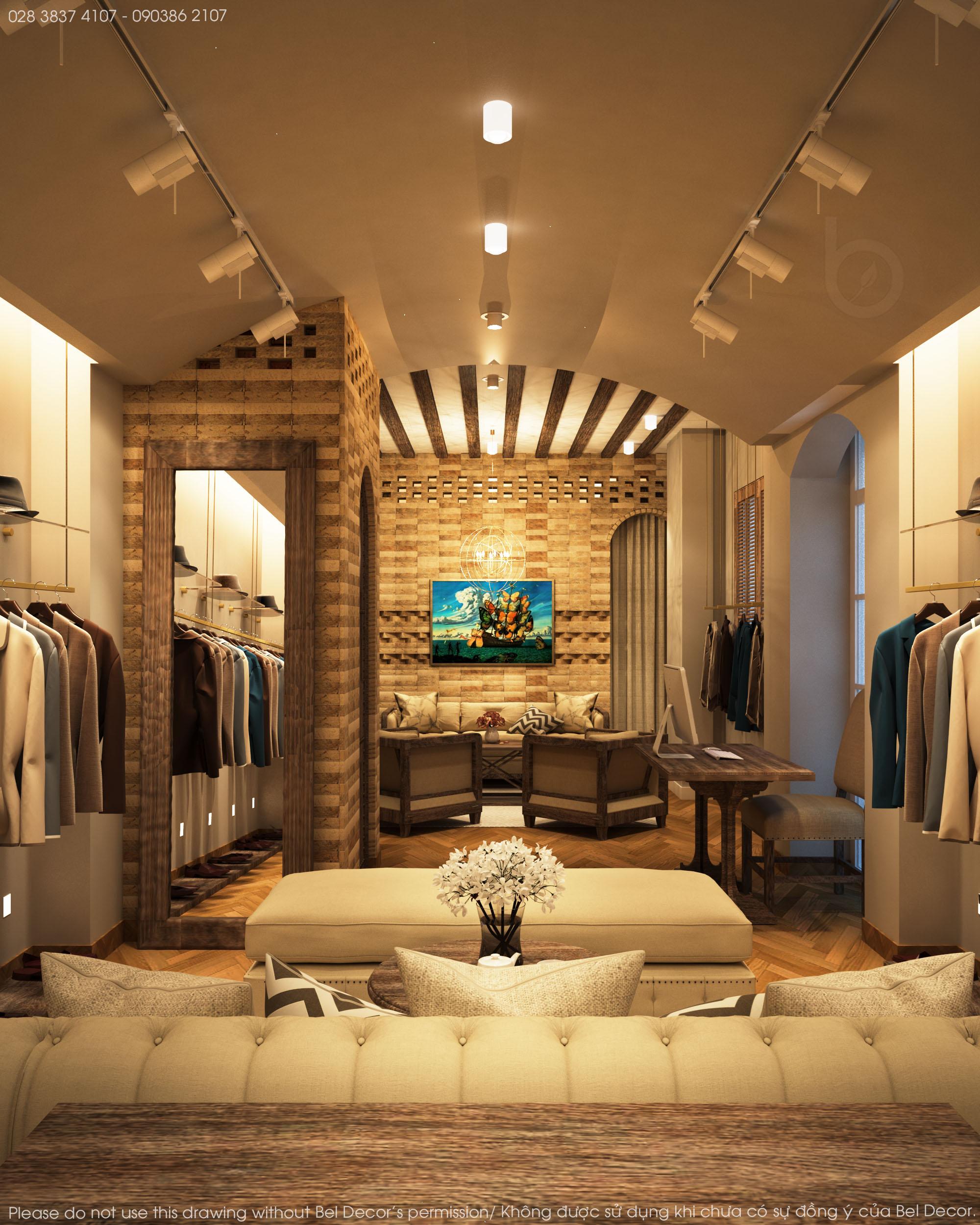 thiết kế nội thất Shop tại Hồ Chí Minh Thiết kế nội - ngoại thất Fashion Shop Antonio 1 1537428713