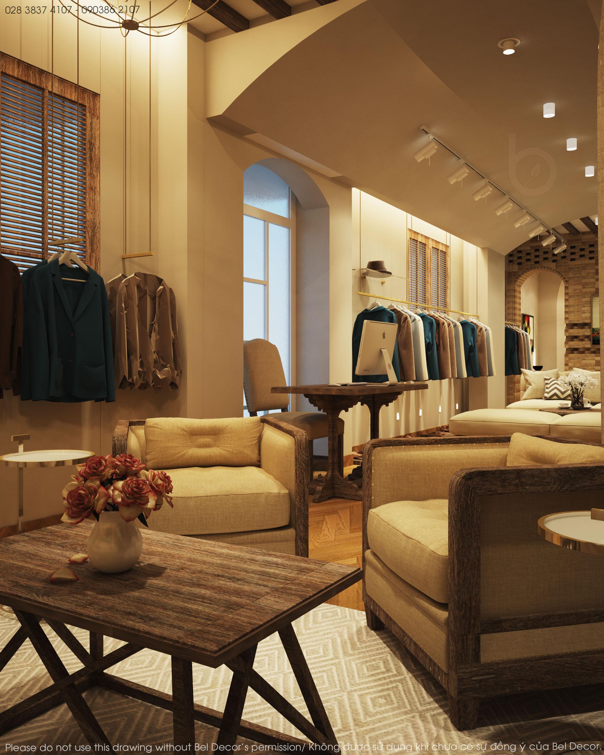 thiết kế nội thất Shop tại Hồ Chí Minh Thiết kế nội - ngoại thất Fashion Shop Antonio 2 1537428718