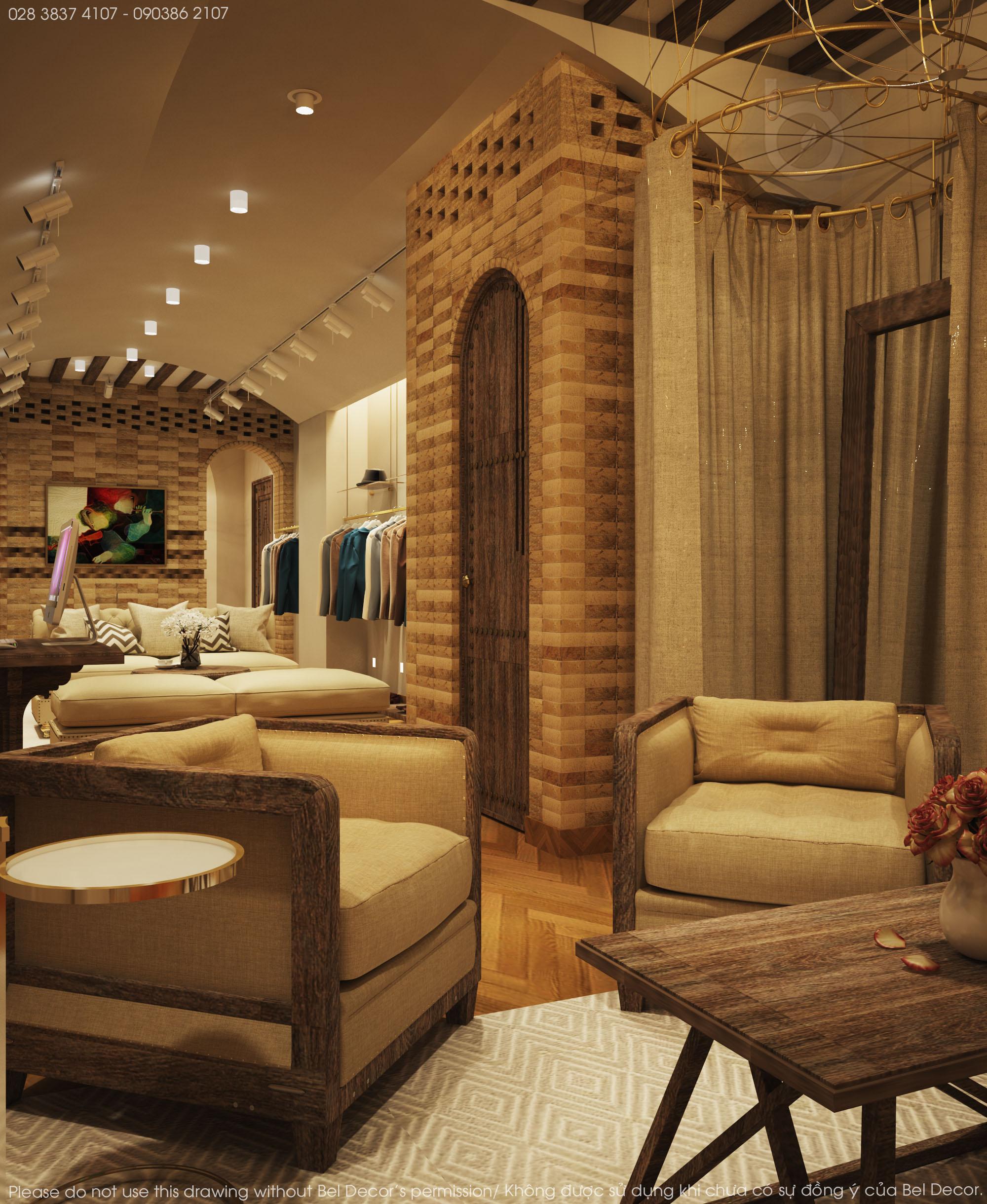 thiết kế nội thất Shop tại Hồ Chí Minh Thiết kế nội - ngoại thất Fashion Shop Antonio 5 1537428723