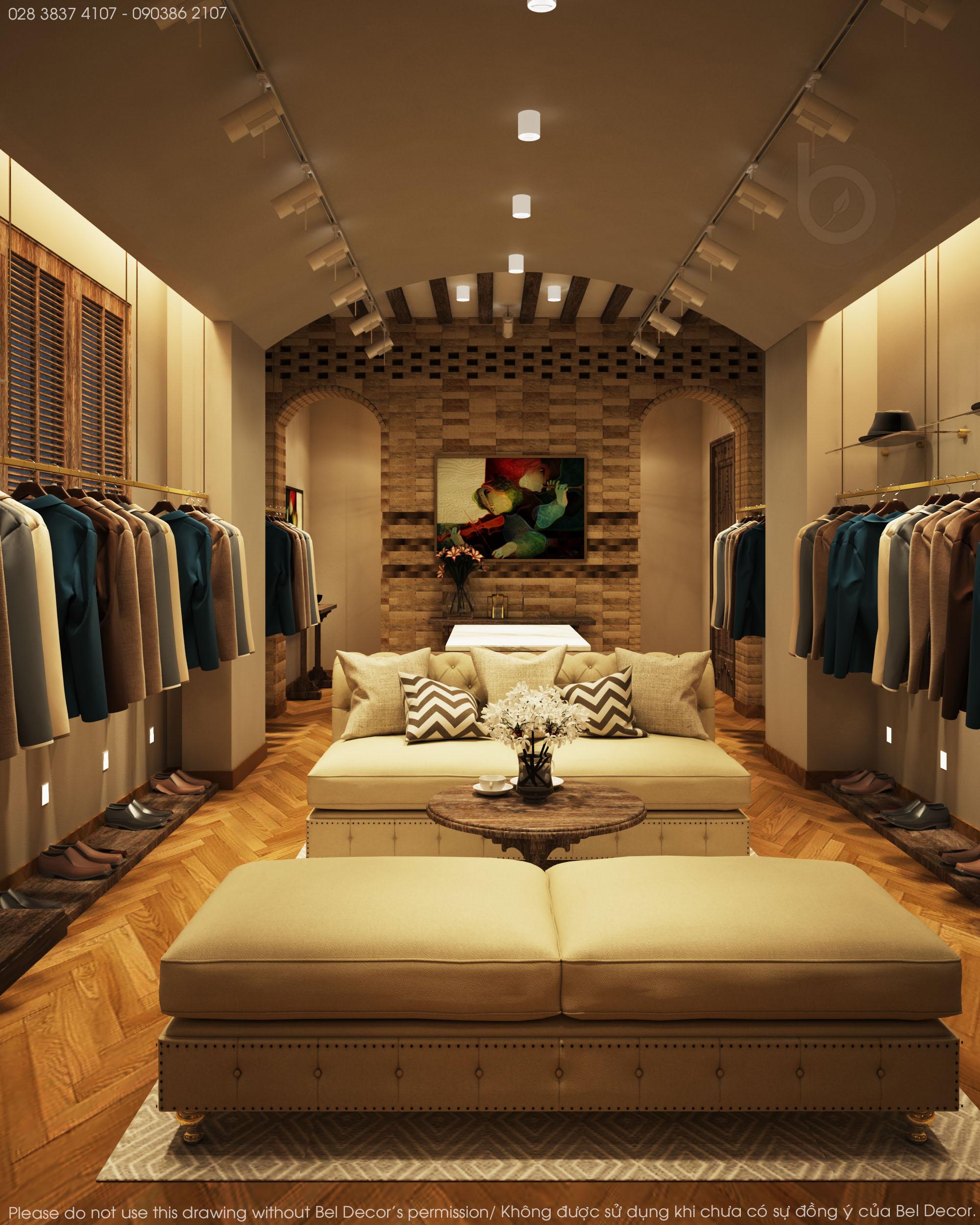 thiết kế nội thất Shop tại Hồ Chí Minh Thiết kế nội - ngoại thất Fashion Shop Antonio 6 1537428721