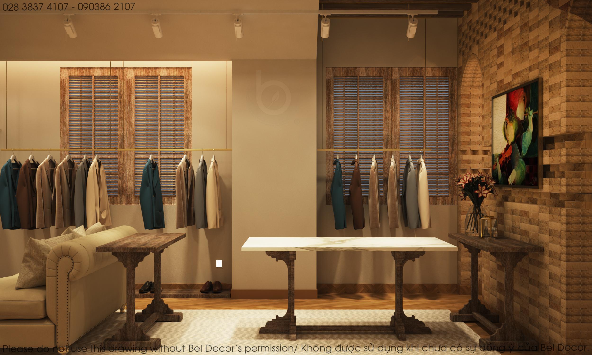 thiết kế nội thất Shop tại Hồ Chí Minh Thiết kế nội - ngoại thất Fashion Shop Antonio 7 1537428727