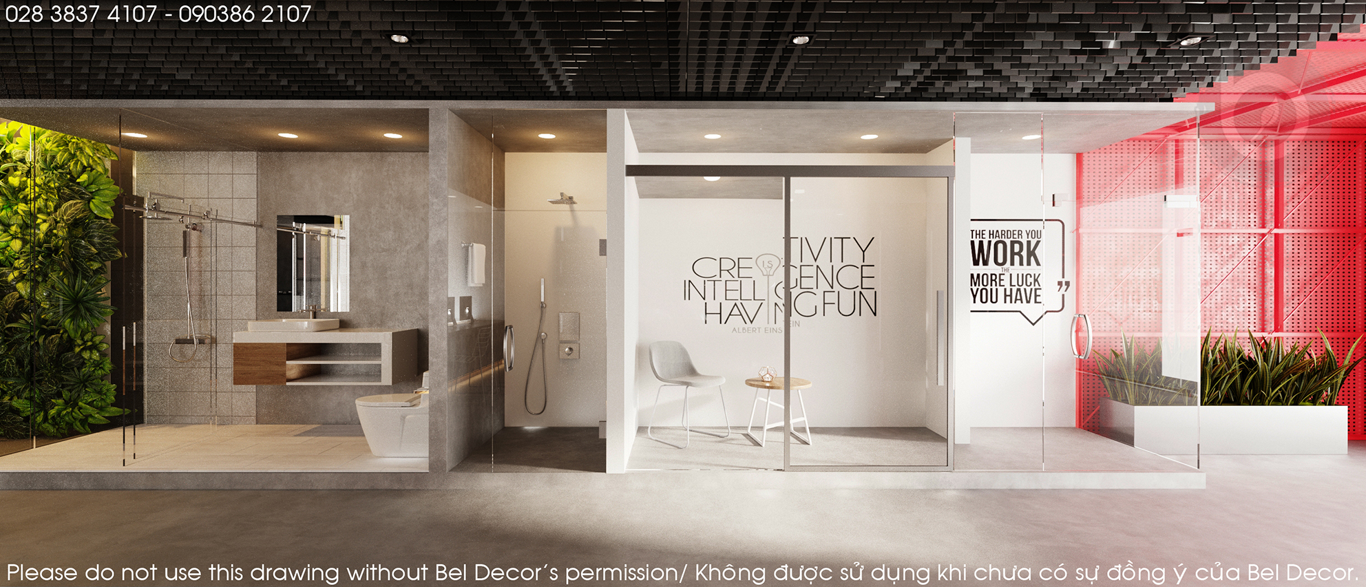 thiết kế nội thất Showroom tại Hồ Chí Minh Thiết kế nội thất Showroom (SH1801) 8 1538388012