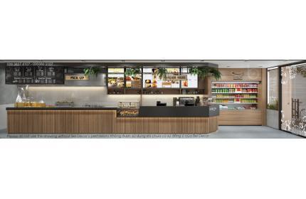 Thiết kế nội - ngoại thất cafe PR1812