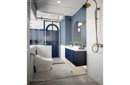 Thiết kế nội - ngoại thất căn hộ HO1883