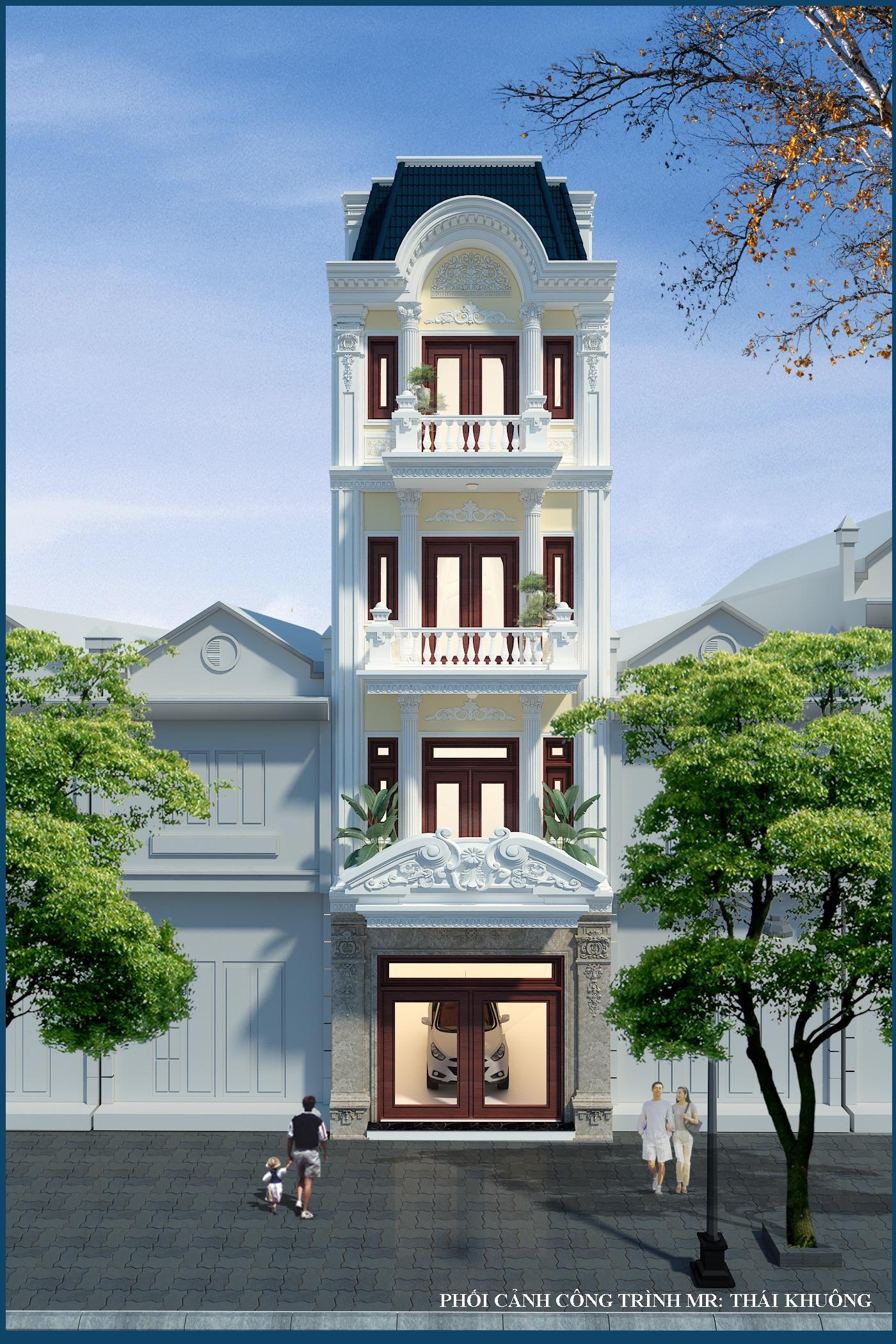 thiết kế Nhà Mặt Phố 5 tầng tại Bắc Giang Nhà lô phố tân cổ điển - nhà lô phố hiện đại 3 tầng 0 1548761499