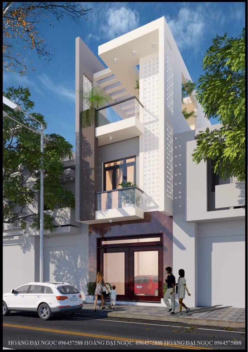 thiết kế Nhà Mặt Phố 5 tầng tại Bắc Giang Nhà lô phố tân cổ điển - nhà lô phố hiện đại 3 tầng 2 1548761494