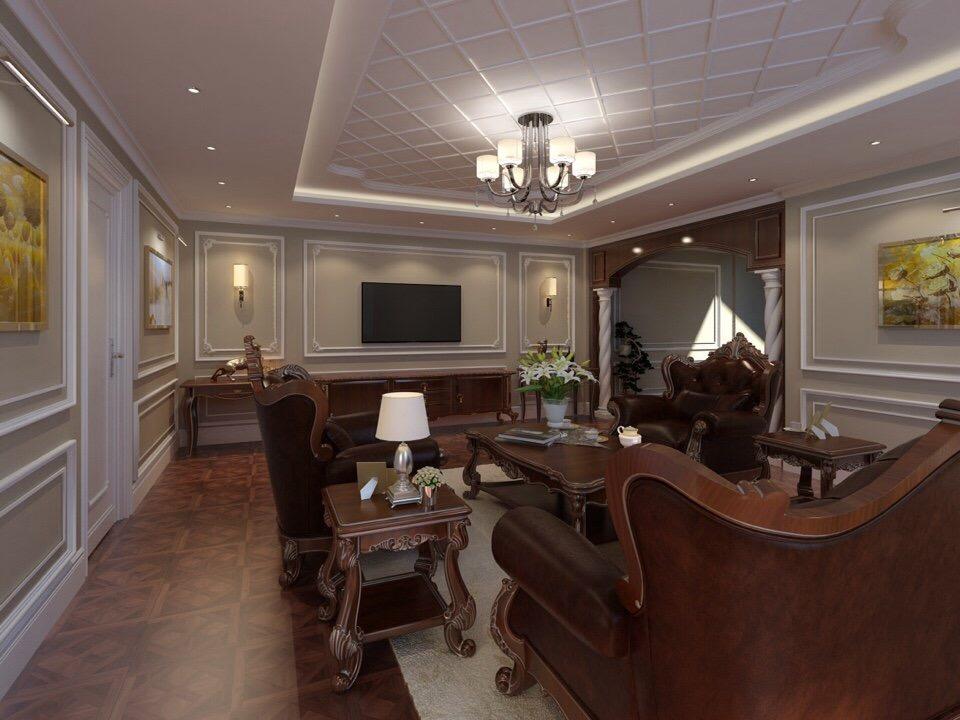 thiết kế Nhà Mặt Phố 5 tầng tại Bắc Giang Nhà lô phố tân cổ điển - nhà lô phố hiện đại 3 tầng 4 1548761496