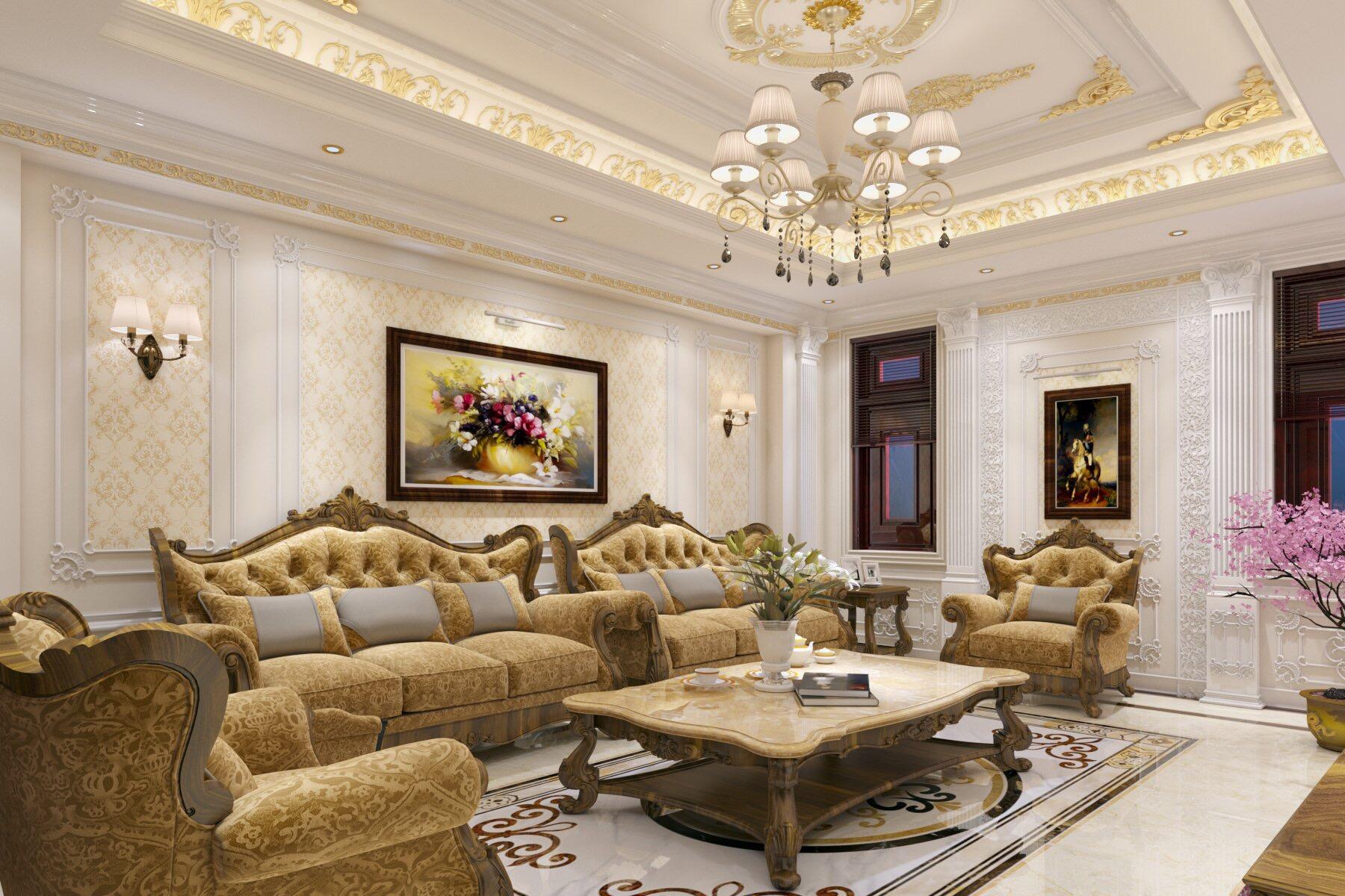 thiết kế nội thất Nhà Mặt Phố tại Bắc Giang Phòng khách cuối năm 0 1549032263