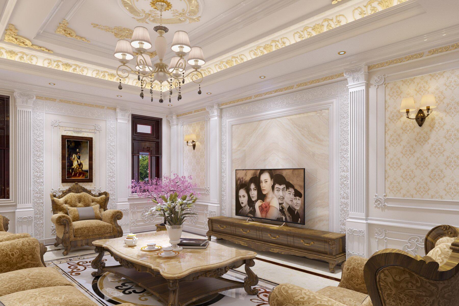 thiết kế nội thất Nhà Mặt Phố tại Bắc Giang Phòng khách cuối năm 1 1549032263