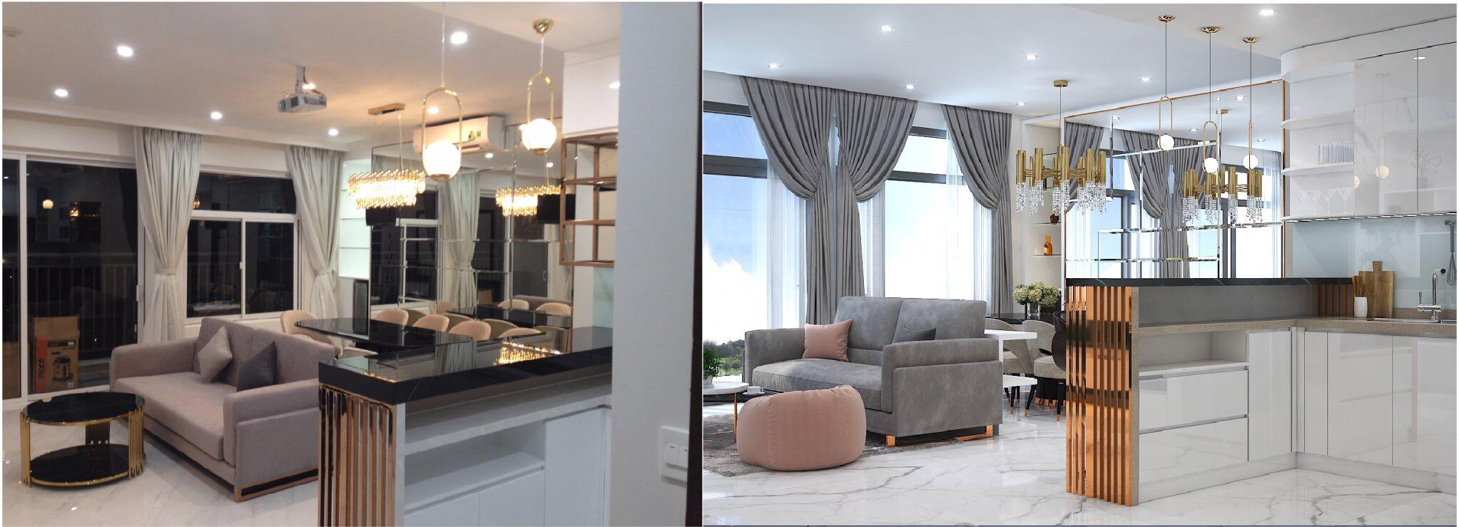thiết kế nội thất chung cư tại Hồ Chí Minh Căn hộ 3 1563261239