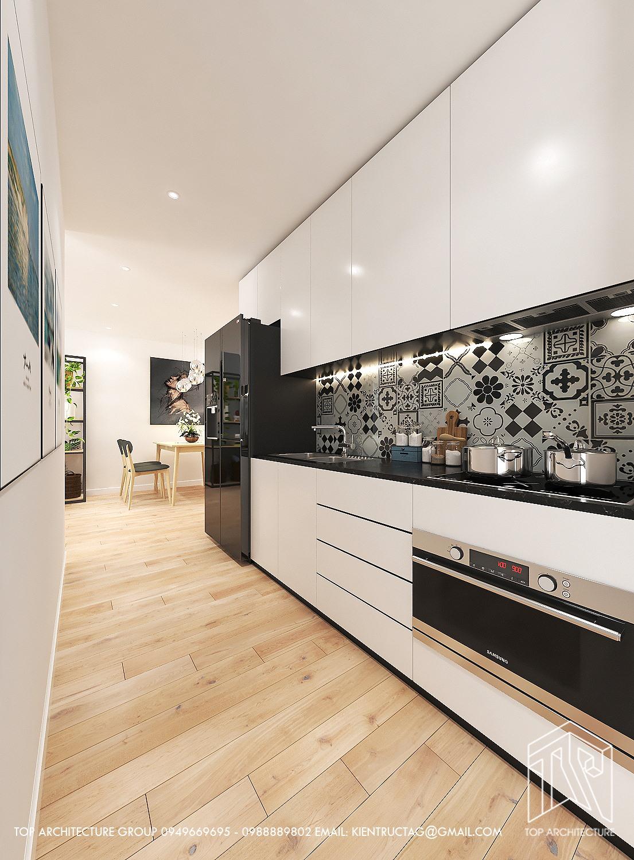 Thiết kế nội thất Chung Cư tại Hà Nội Chung cư 2 ngủ GreenBay 1626186170 3