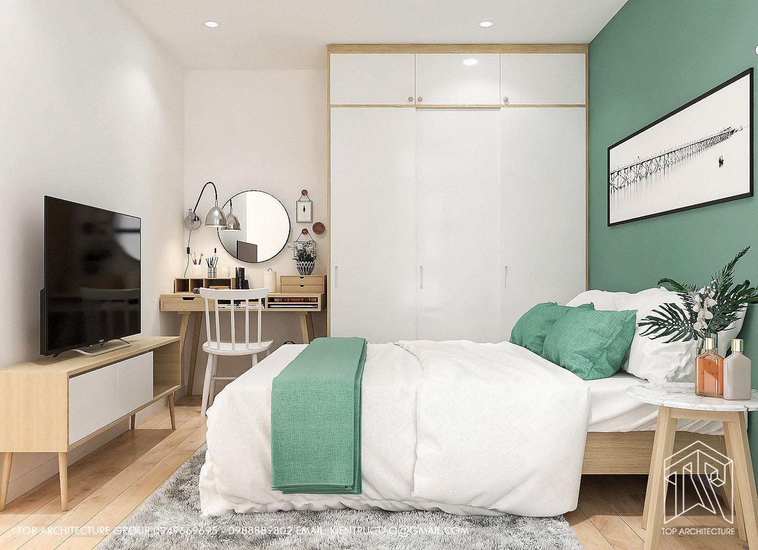 Thiết kế nội thất Chung Cư tại Hà Nội Chung cư 2 ngủ GreenBay 1626186171 7