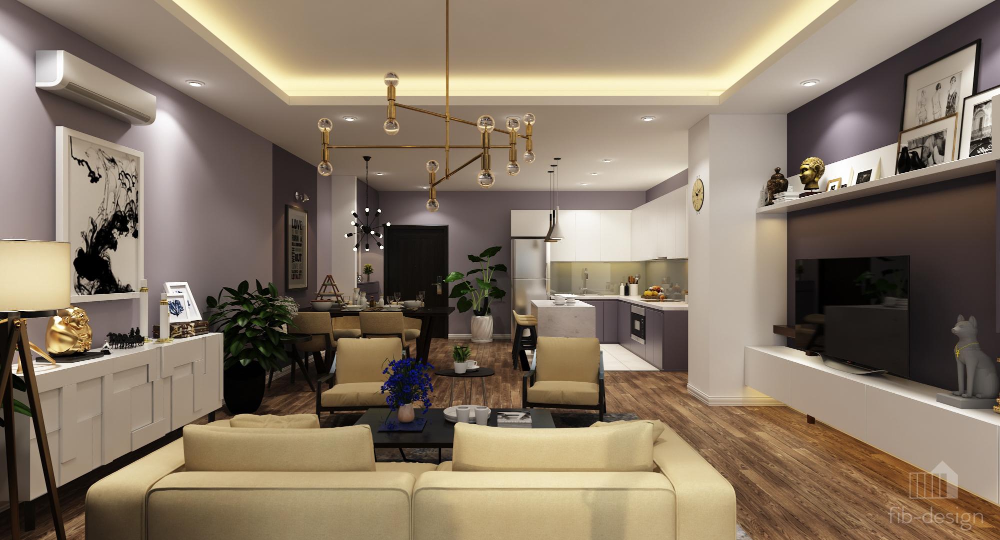 thiết kế nội thất chung cư tại Hà Nội P714 Chung cư GOLDSiLK 2 1544083439