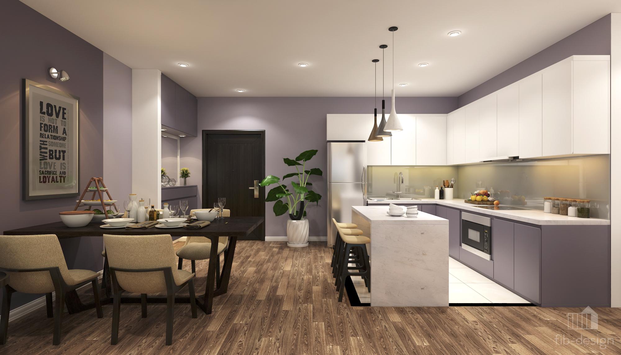 thiết kế nội thất chung cư tại Hà Nội P714 Chung cư GOLDSiLK 4 1544083440