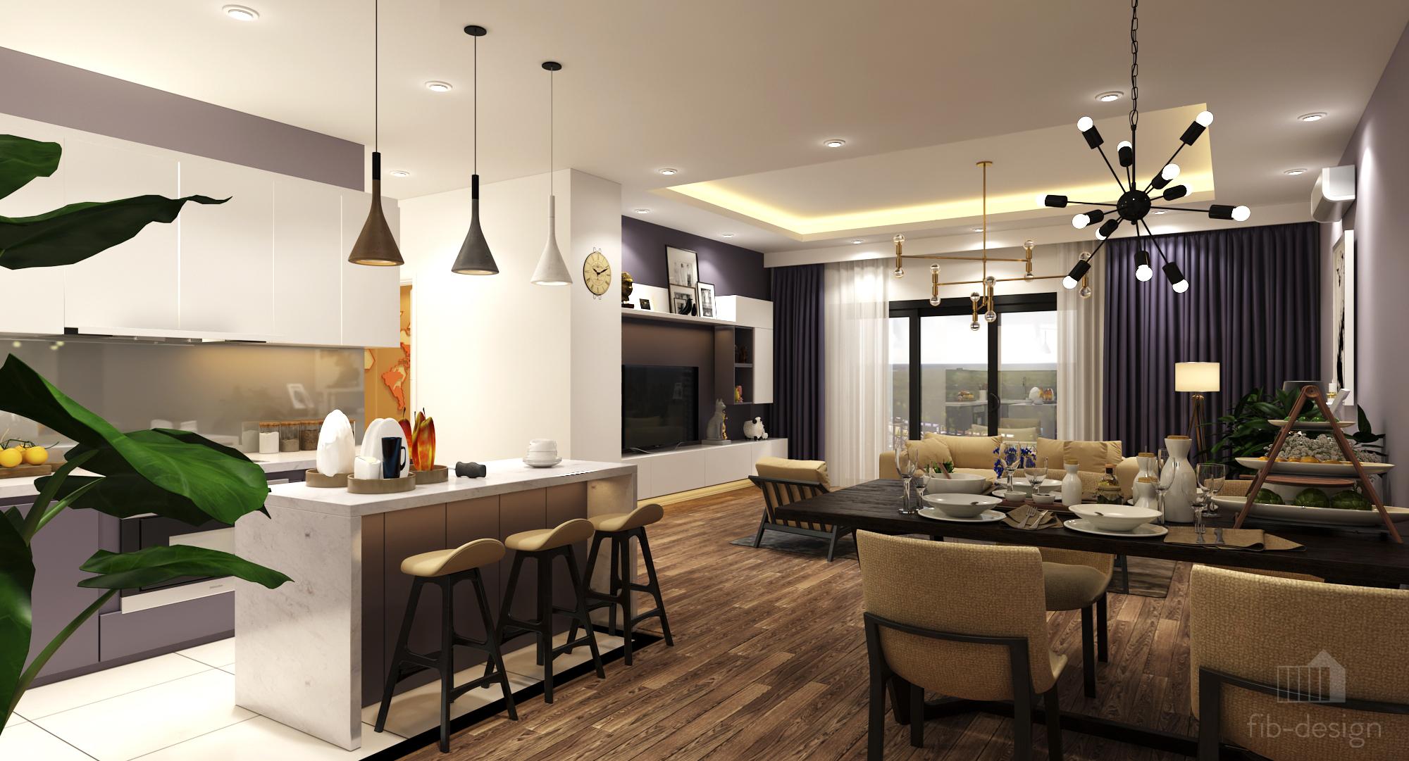 thiết kế nội thất chung cư tại Hà Nội P714 Chung cư GOLDSiLK 9 1544083442