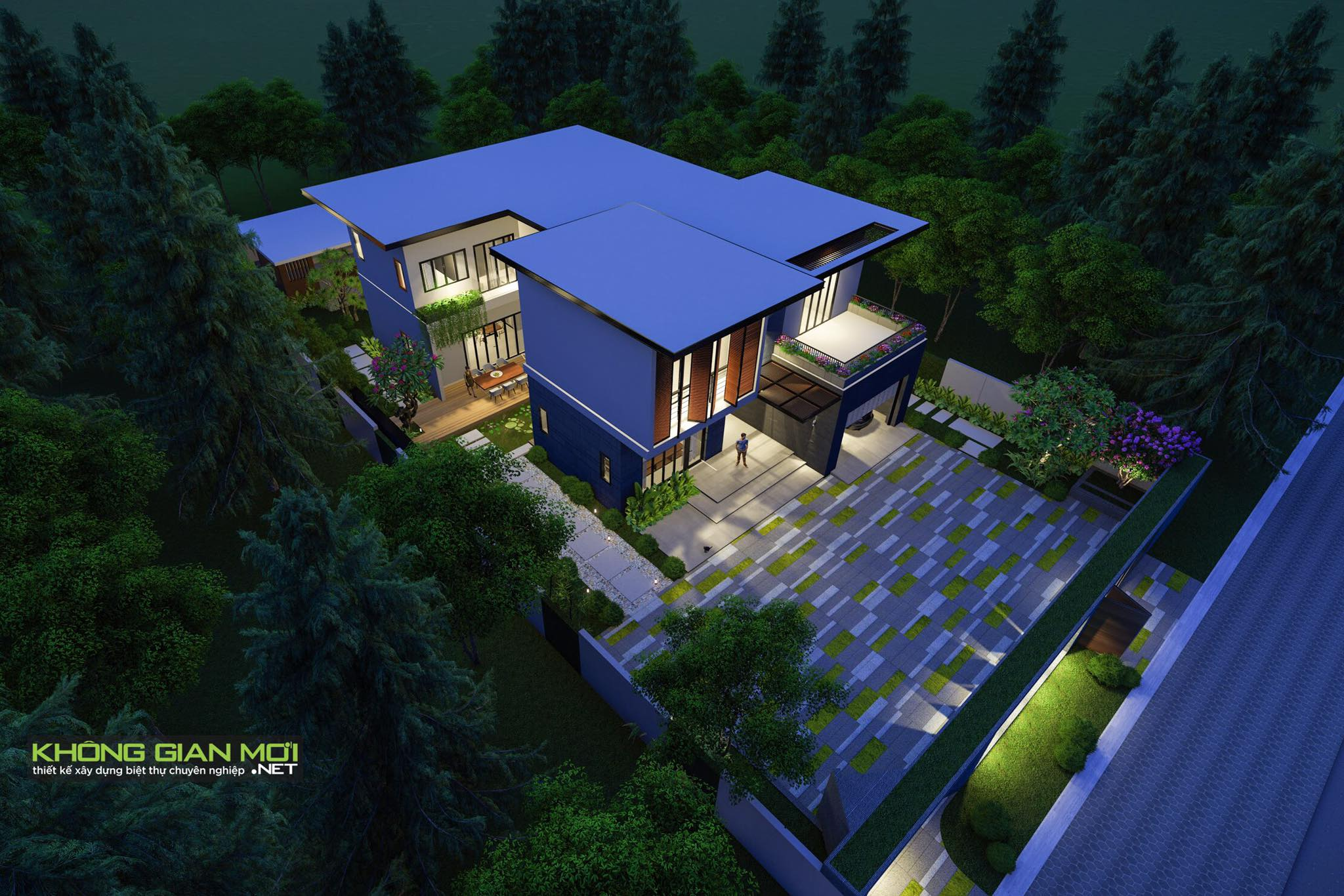 thiết kế Biệt Thự 2 tầng tại Tiền Giang KGM THIẾT KẾ XÂY DỰNG BIỆT THỰ - TIỀN GIANG 0 1562642646