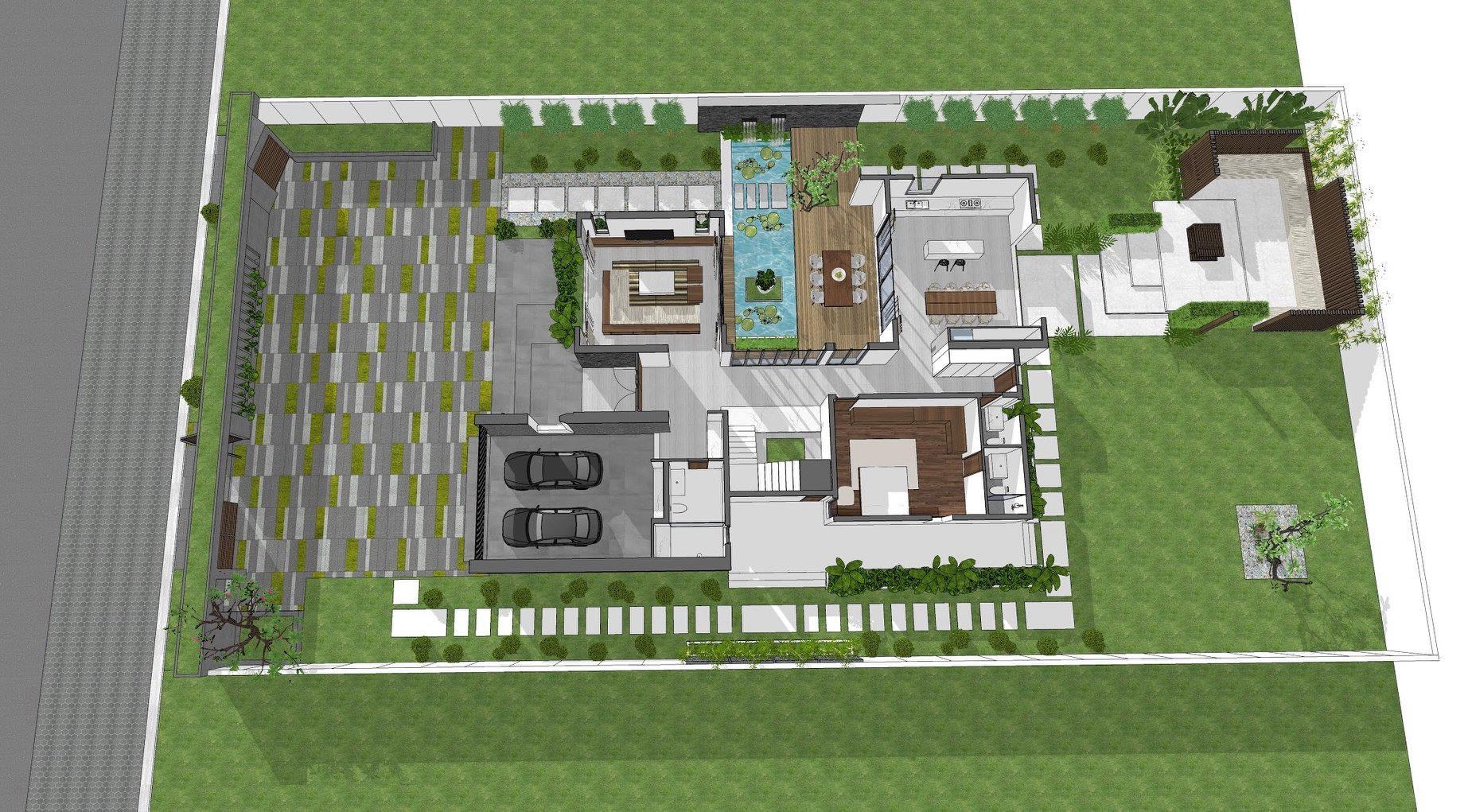 thiết kế Biệt Thự 2 tầng tại Tiền Giang KGM THIẾT KẾ XÂY DỰNG BIỆT THỰ - TIỀN GIANG 7 1562642647
