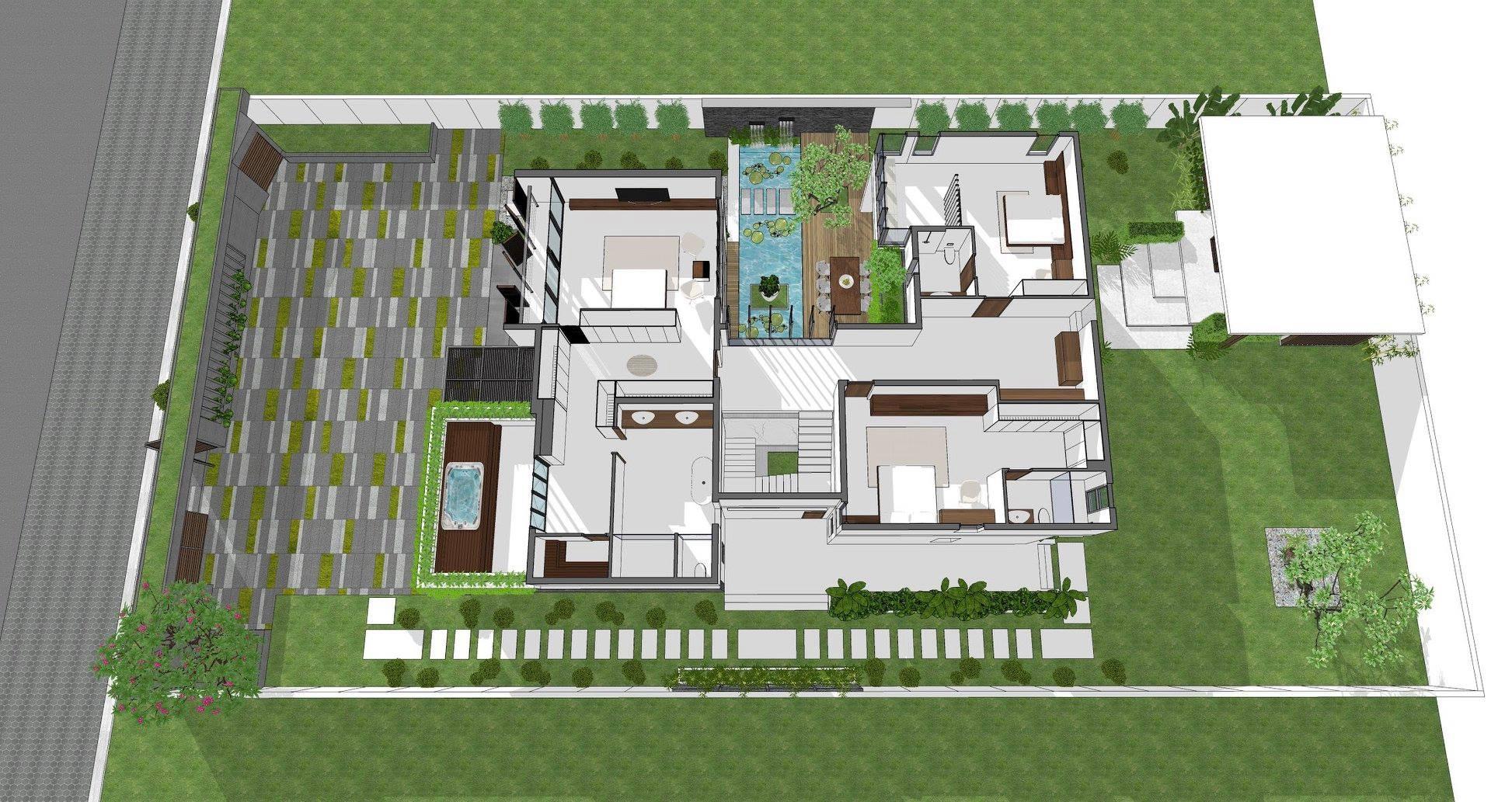 thiết kế Biệt Thự 2 tầng tại Tiền Giang KGM THIẾT KẾ XÂY DỰNG BIỆT THỰ - TIỀN GIANG 8 1562642648