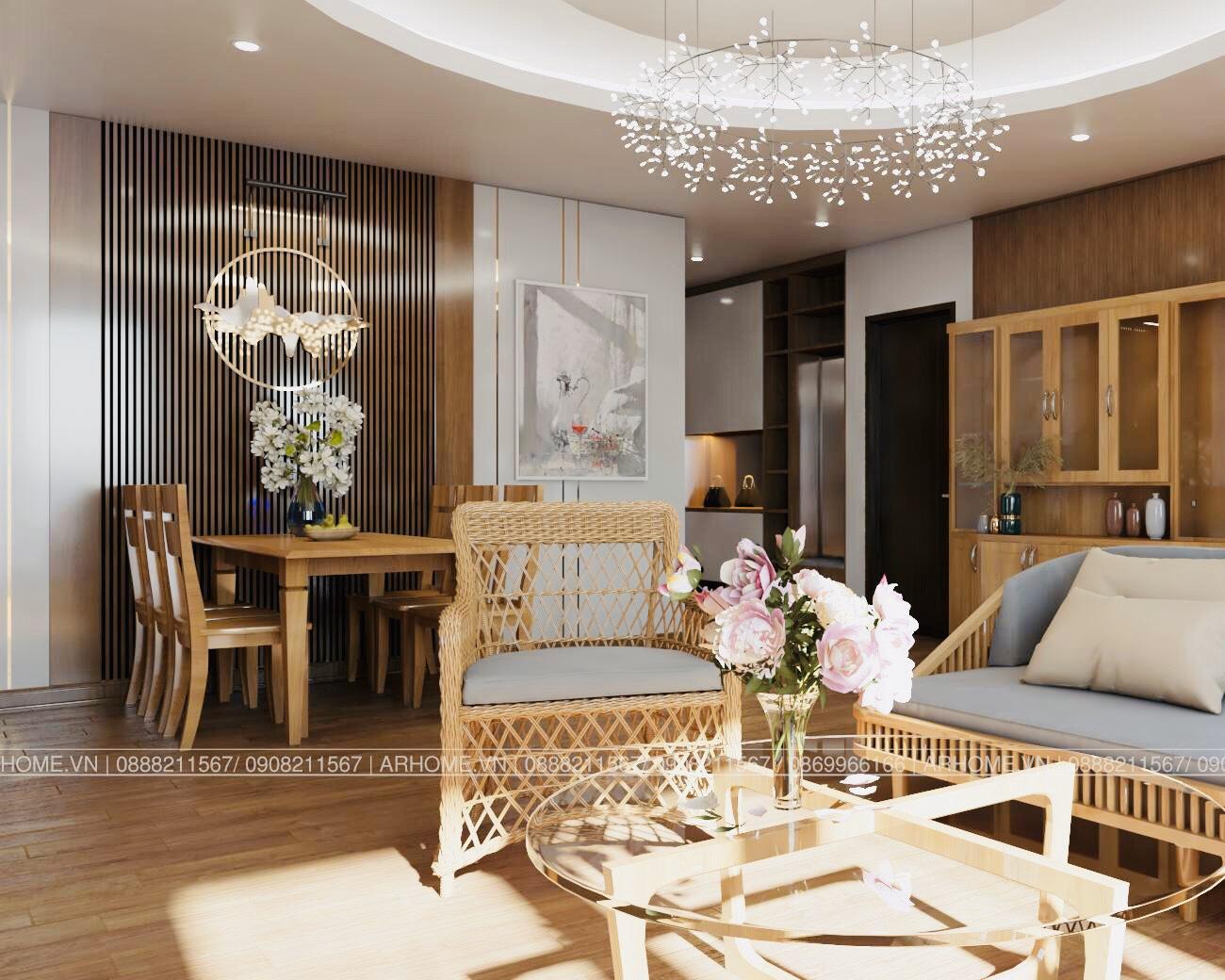 Thiết kế nội thất Chung Cư tại Hà Nội Ấn tượng khó phai với Thiết kế nội thất căn hộ Chung cư Lạc Hồng West Lake của Cô Họa sĩ 1585985648 0