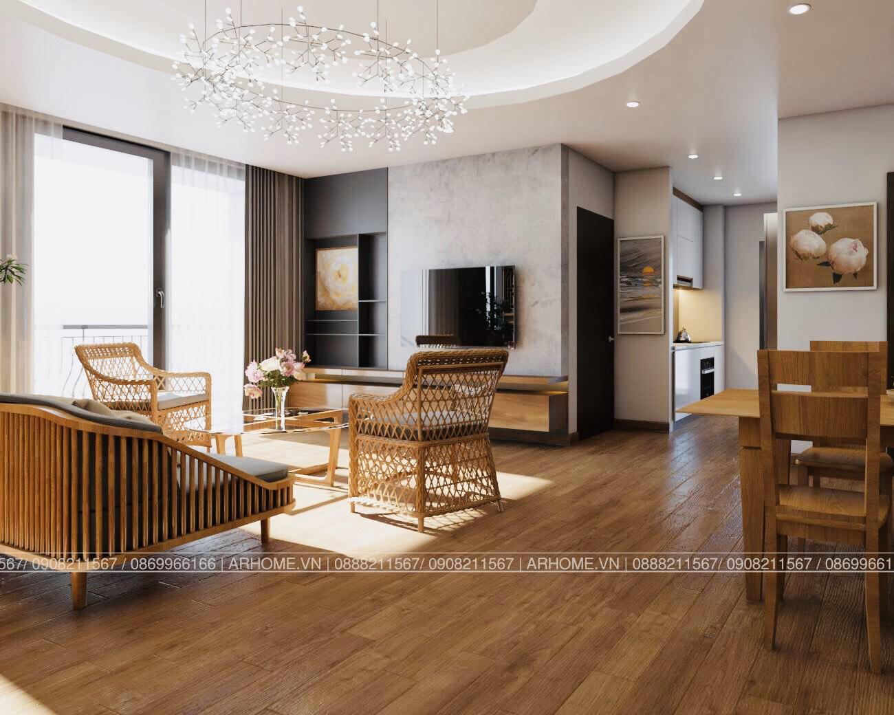 Thiết kế nội thất Chung Cư tại Hà Nội Ấn tượng khó phai với Thiết kế nội thất căn hộ Chung cư Lạc Hồng West Lake của Cô Họa sĩ 1585985648 1
