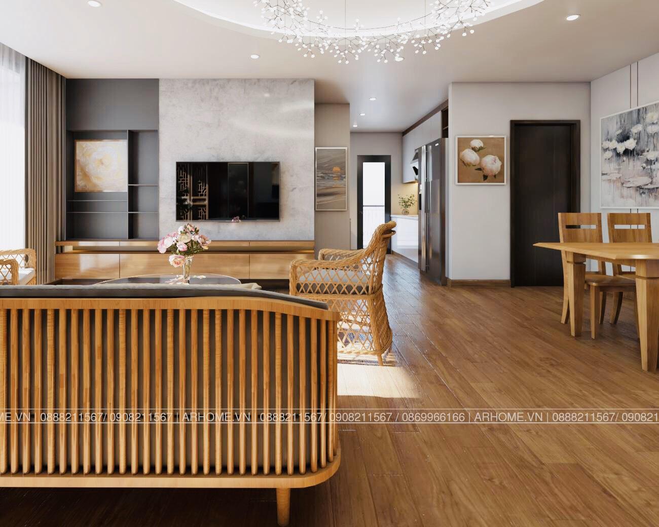 Thiết kế nội thất Chung Cư tại Hà Nội Ấn tượng khó phai với Thiết kế nội thất căn hộ Chung cư Lạc Hồng West Lake của Cô Họa sĩ 1585985648 10