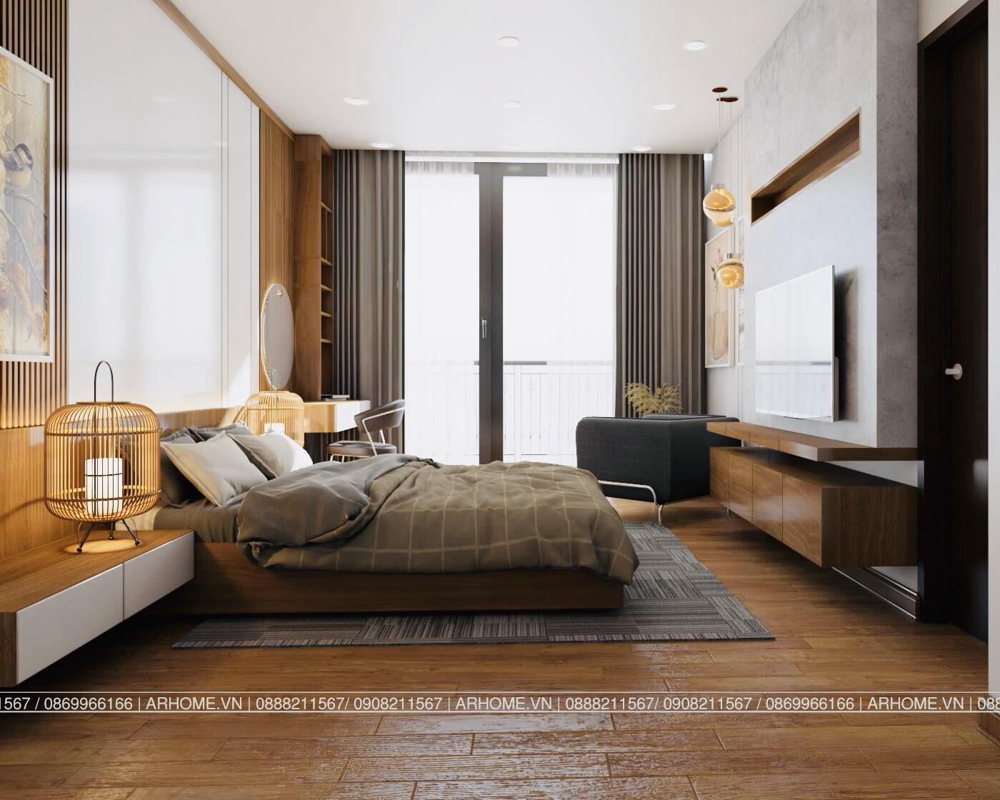Thiết kế nội thất Chung Cư tại Hà Nội Ấn tượng khó phai với Thiết kế nội thất căn hộ Chung cư Lạc Hồng West Lake của Cô Họa sĩ 1585985648 11