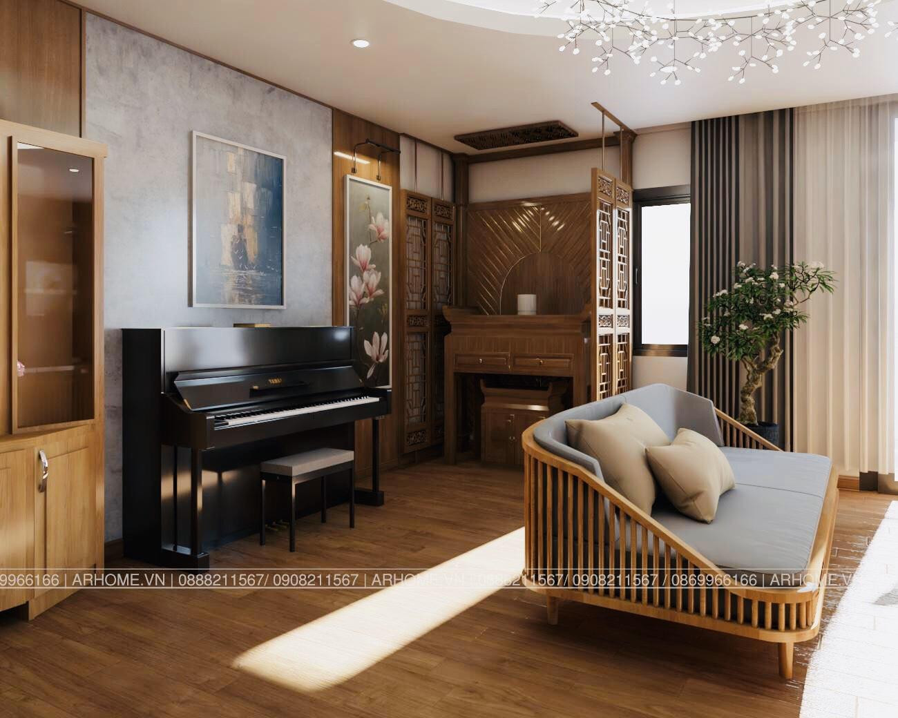 Thiết kế nội thất Chung Cư tại Hà Nội Ấn tượng khó phai với Thiết kế nội thất căn hộ Chung cư Lạc Hồng West Lake của Cô Họa sĩ 1585985648 3