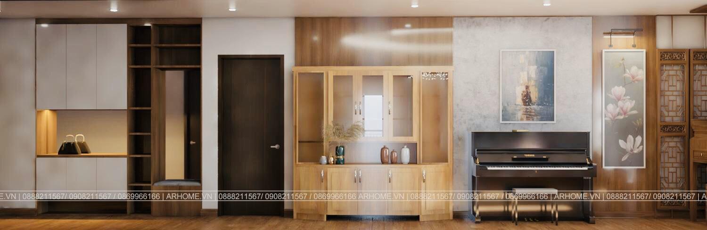 Thiết kế nội thất Chung Cư tại Hà Nội Ấn tượng khó phai với Thiết kế nội thất căn hộ Chung cư Lạc Hồng West Lake của Cô Họa sĩ 1585985648 9