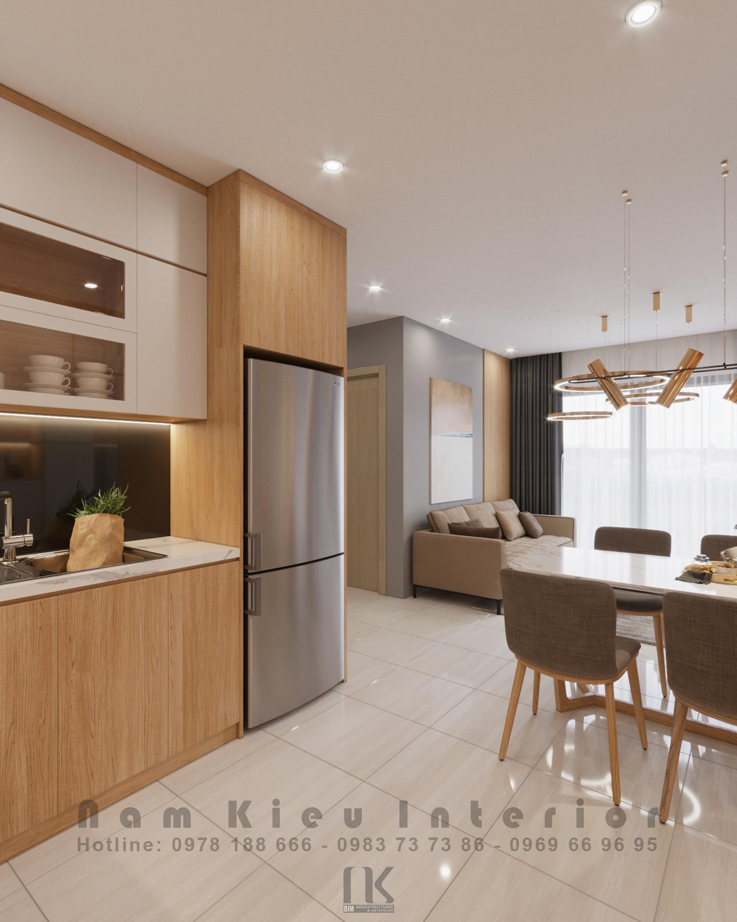 Thiết kế nội thất Chung Cư tại Hà Nội Căn hộ 2PN tại chung cư Vinhomes Smart City 1590635776 1