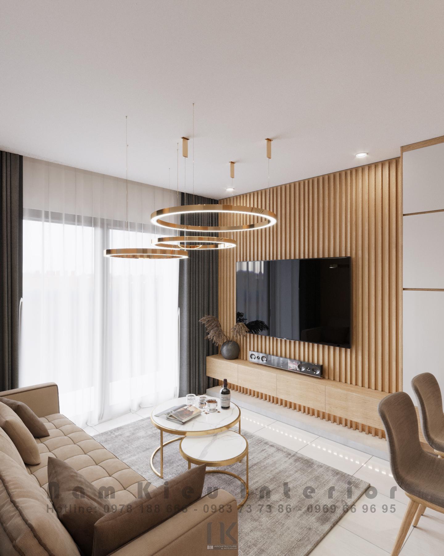 Thiết kế nội thất Chung Cư tại Hà Nội Căn hộ 2PN tại chung cư Vinhomes Smart City 1590635776 3