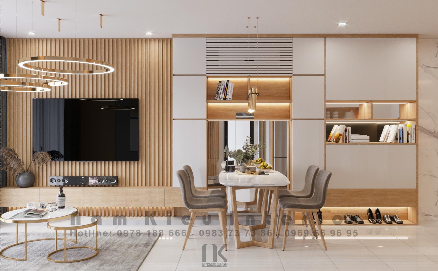 Thiết kế nội thất Chung Cư tại Hà Nội Căn hộ 2PN tại chung cư Vinhomes Smart City 1590635776 5