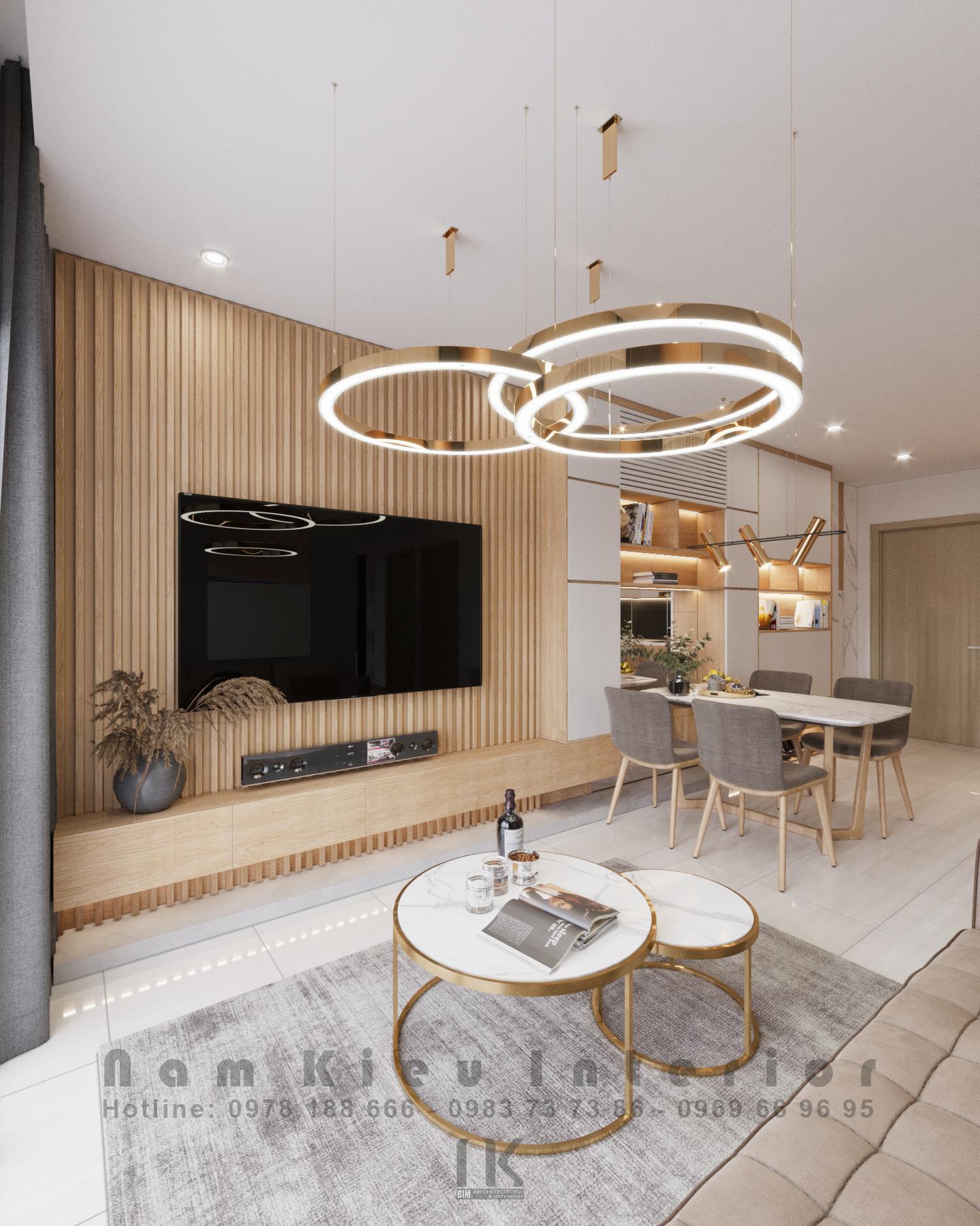 Thiết kế nội thất Chung Cư tại Hà Nội Căn hộ 2PN tại chung cư Vinhomes Smart City 1590635777 4